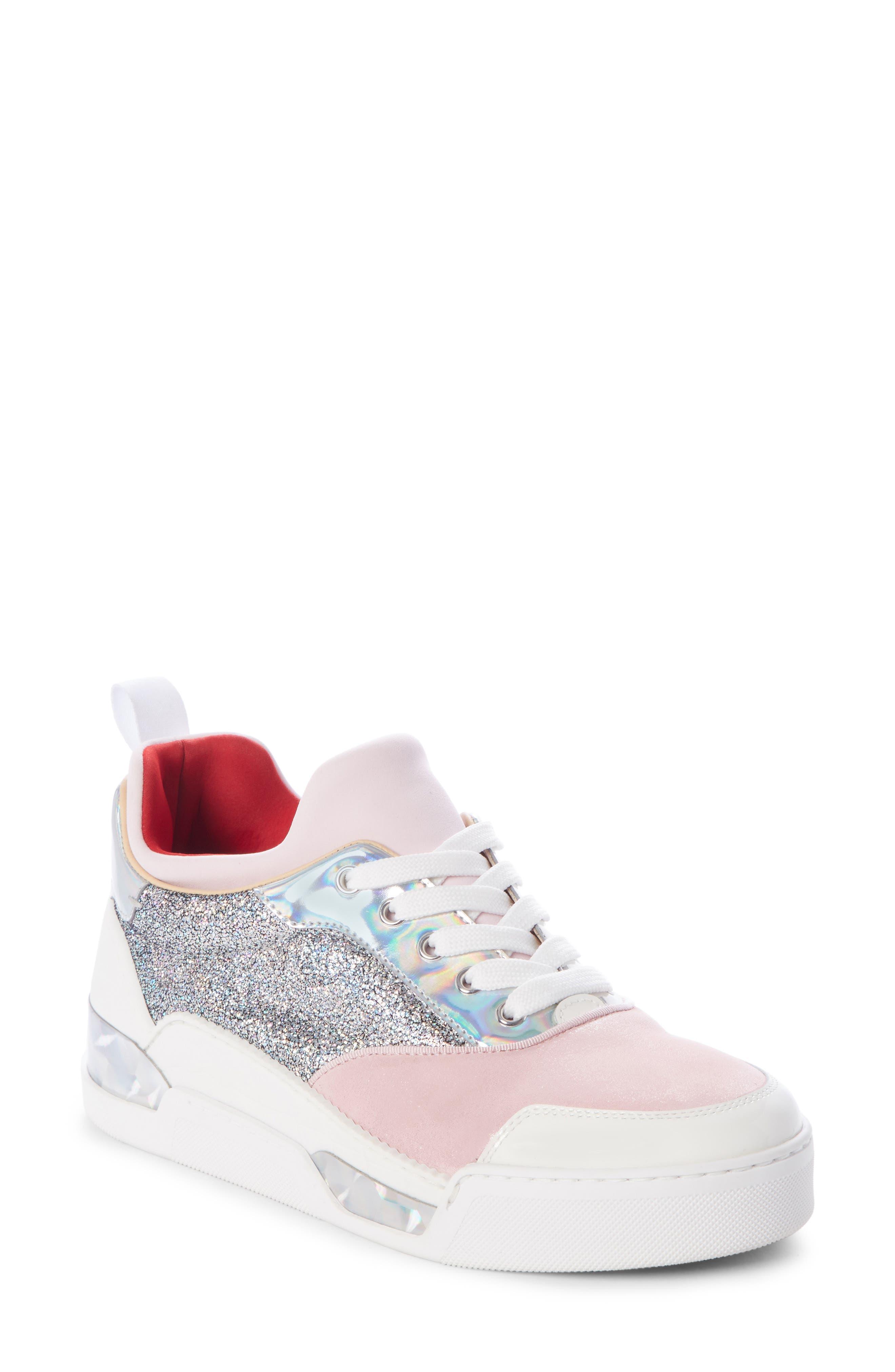 Aurelien Women'S Multimedia Low-Top Sneakers in Pink/ White