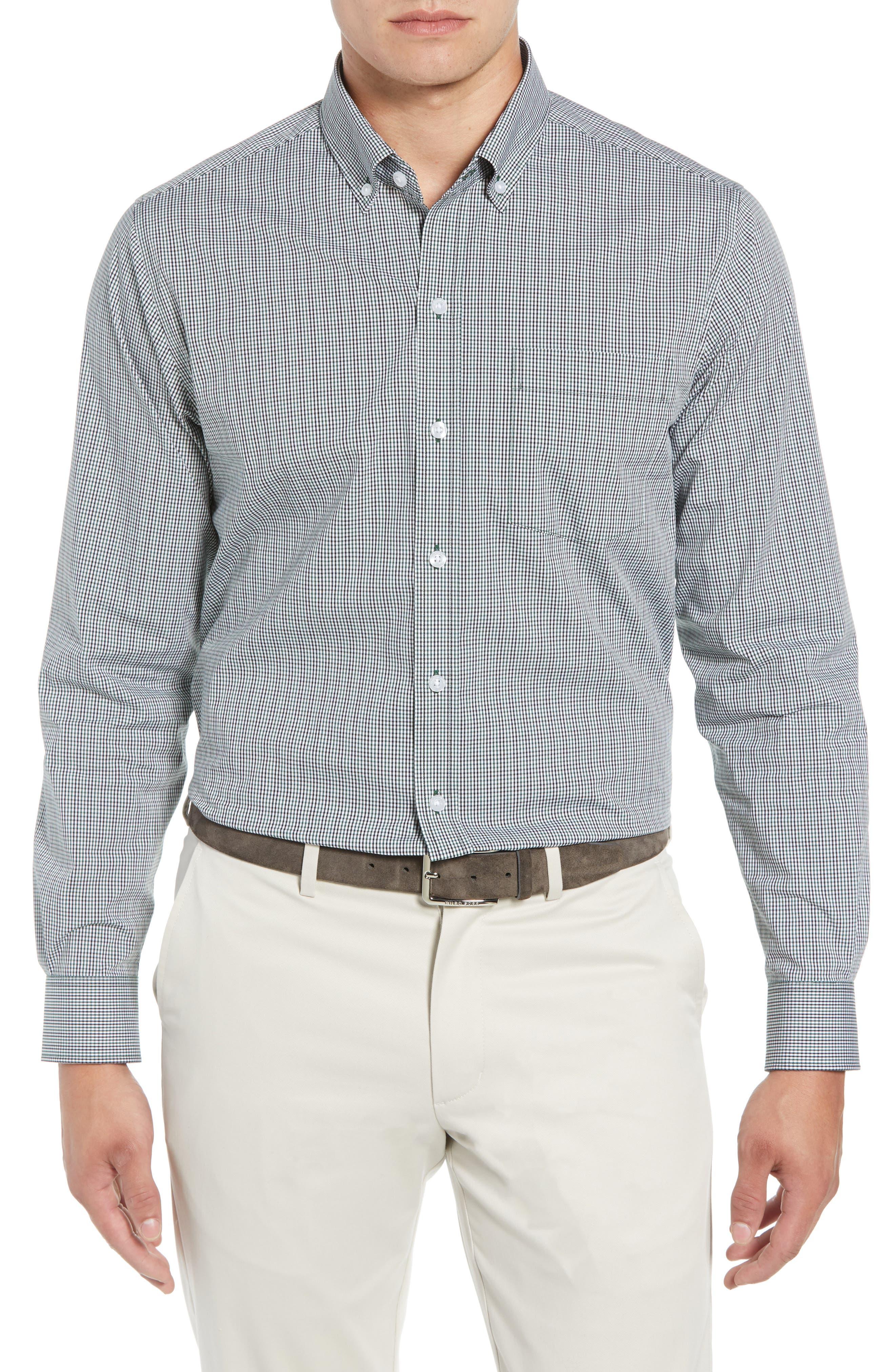Casey Regular Fit Check Sport Shirt,                         Main,                         color, HUNTER