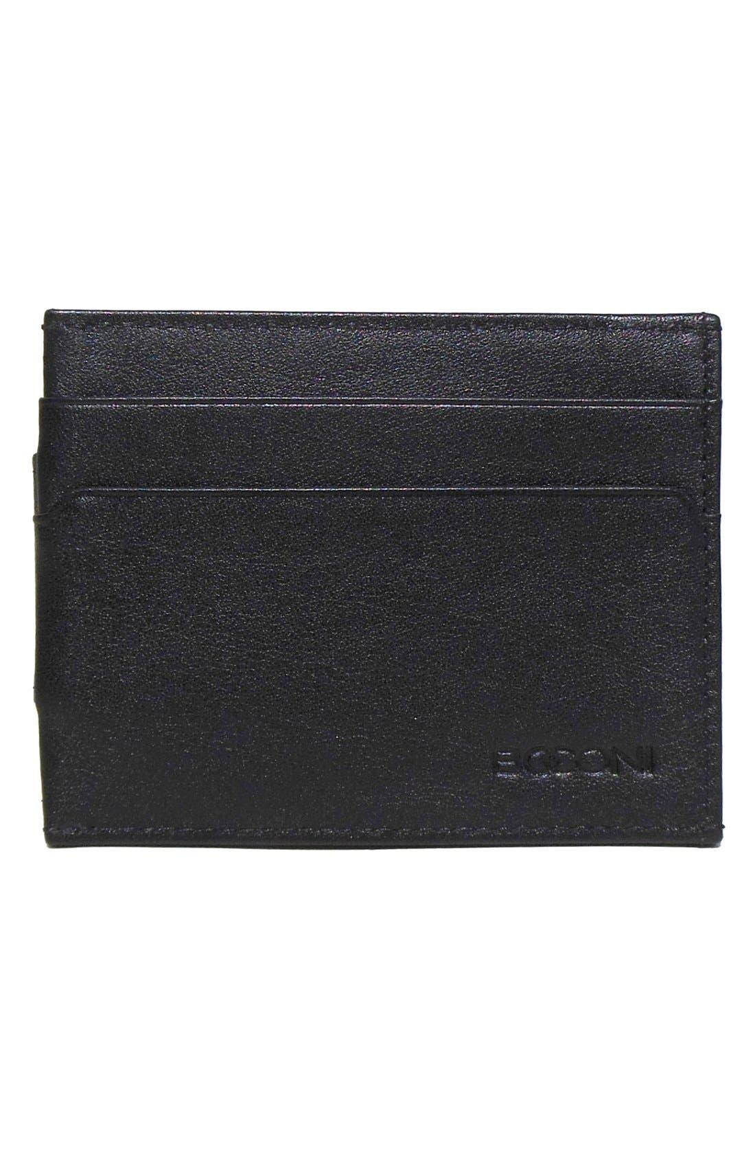 'Grant' Money Clip Card Case,                         Main,                         color, BLACK/ GREY