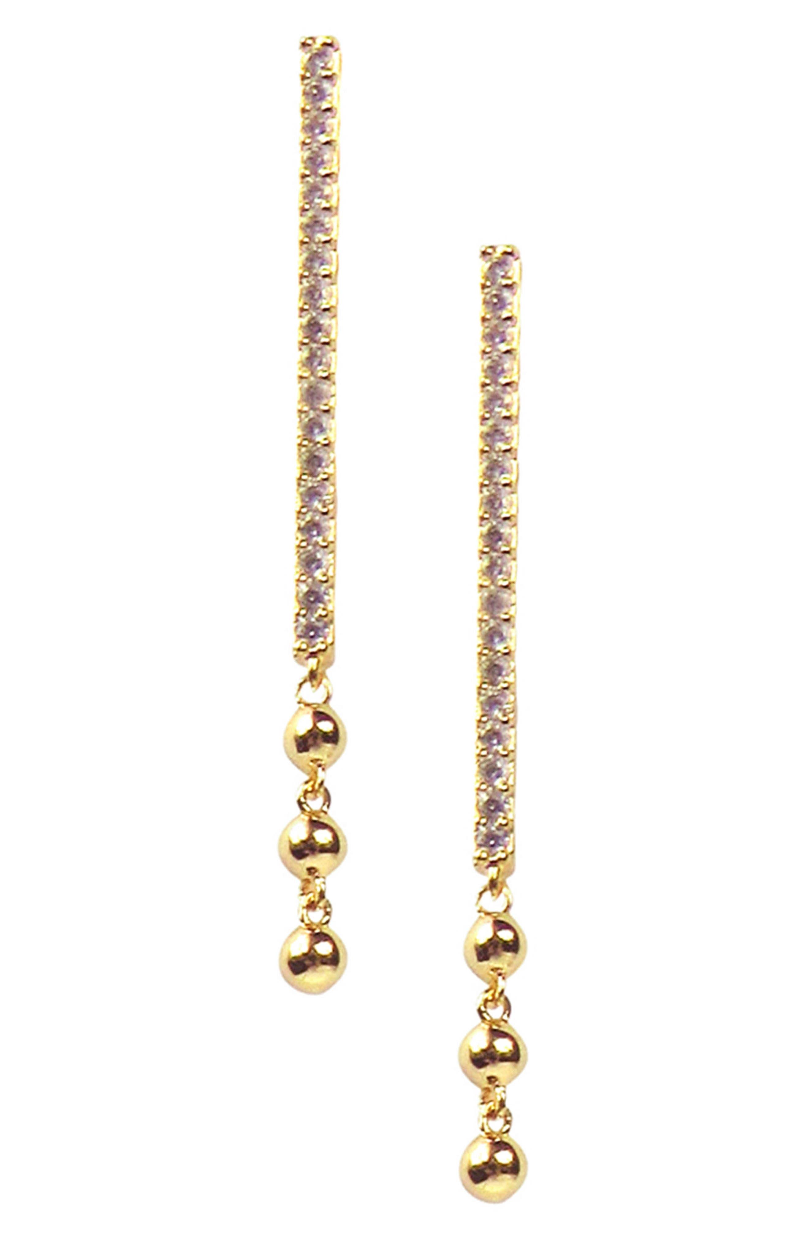 Long Bar Drop Earrings,                             Main thumbnail 1, color,