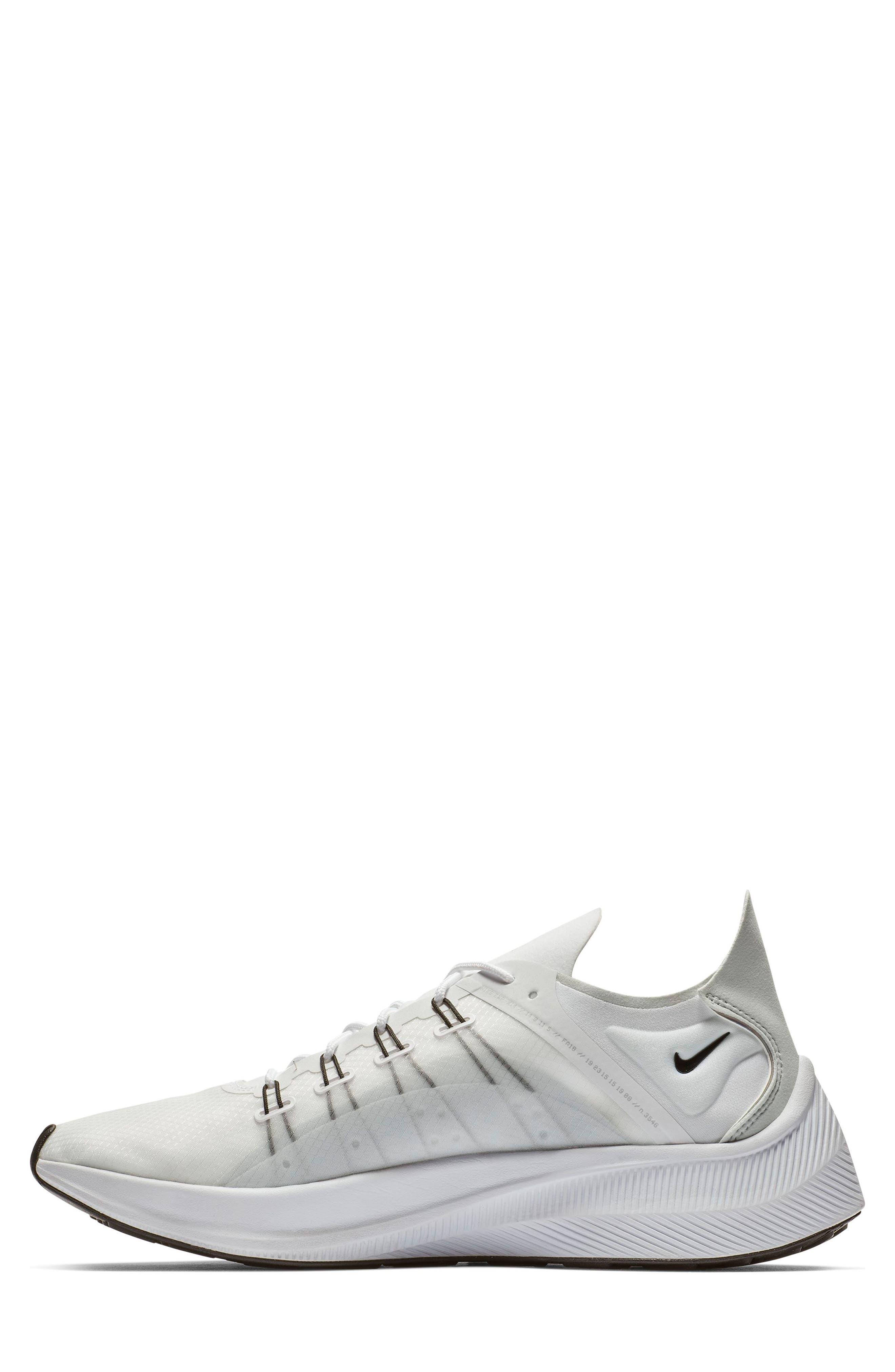 NIKE,                             EXP-X14 Y2K Running Shoe,                             Alternate thumbnail 7, color,                             WHITE/ PURE PLATINUM/ BLACK