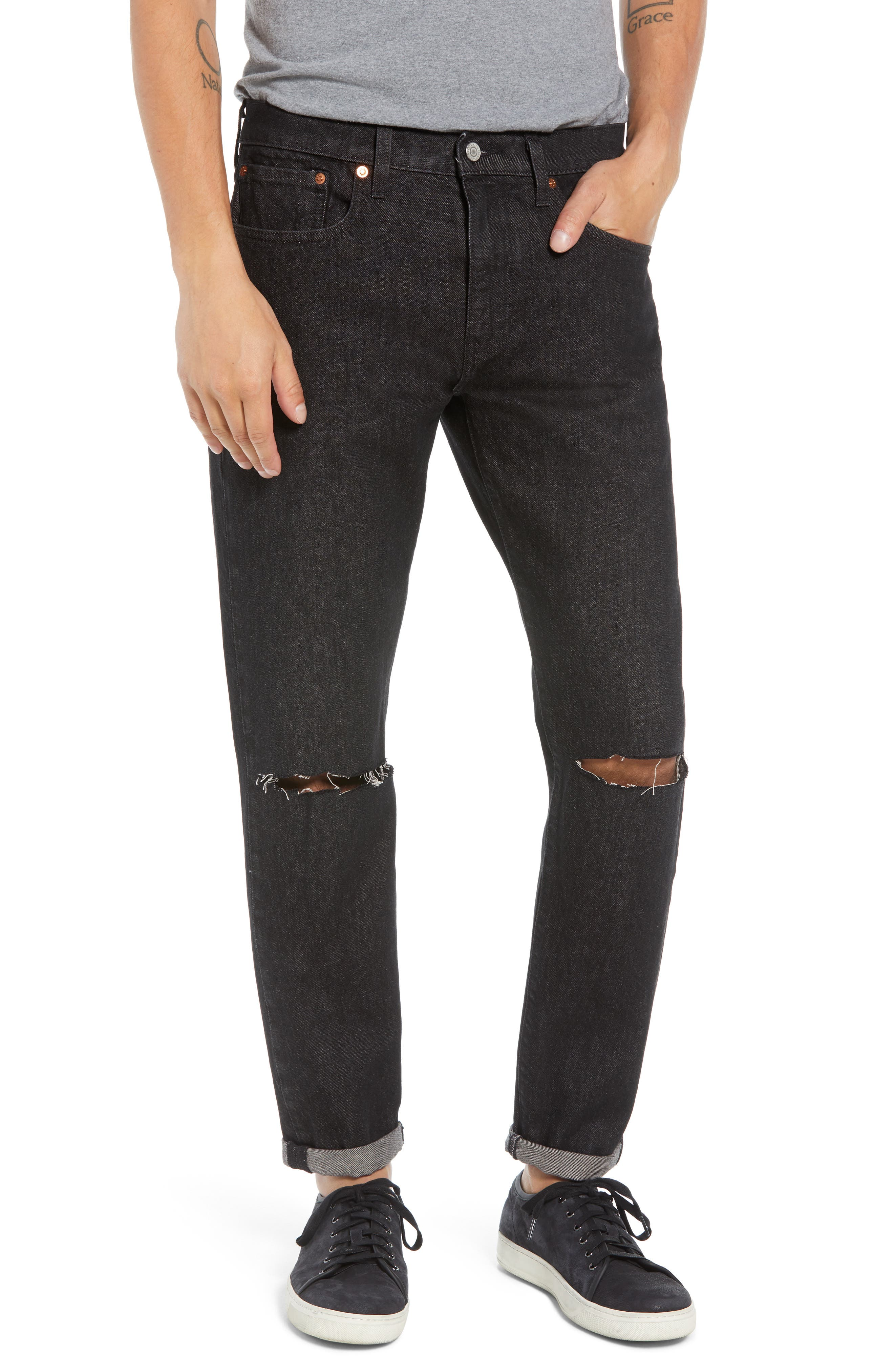 Hi-Ball Straight Fit Jeans,                             Main thumbnail 1, color,                             MEDIUM BLUE