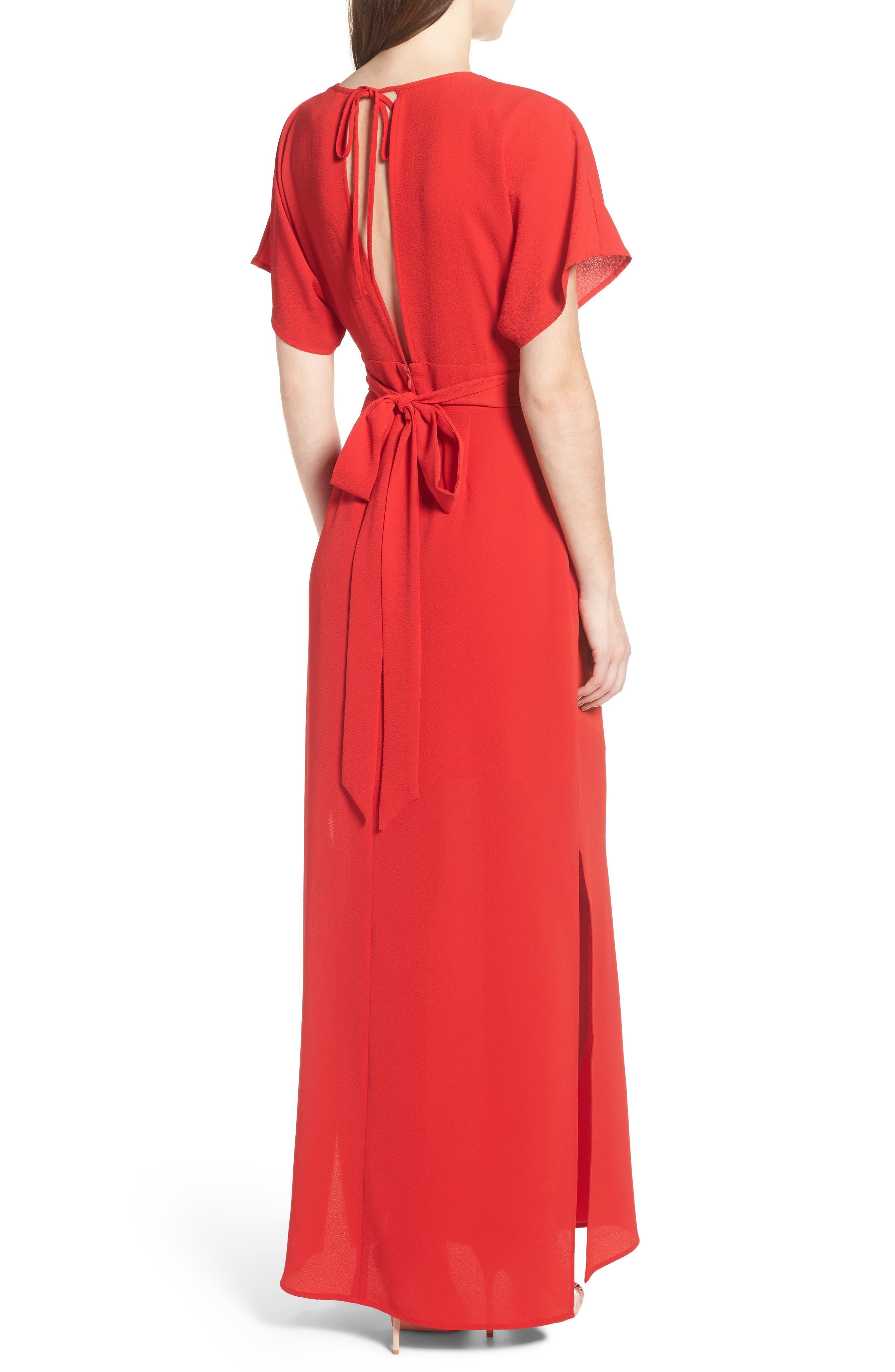 Carrara Slit Maxi Dress,                             Alternate thumbnail 4, color,