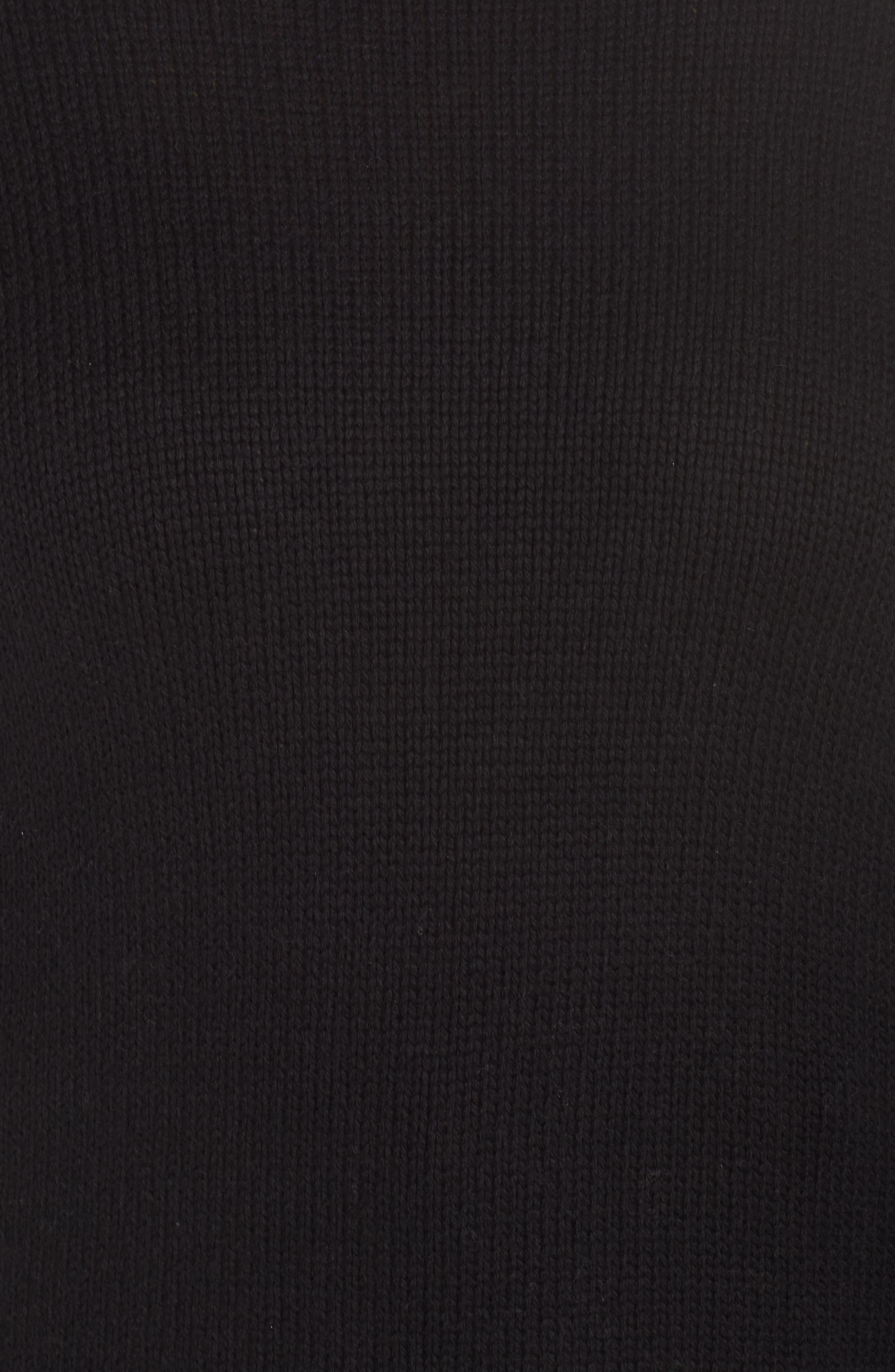 High/Low Turtleneck Sweater,                             Alternate thumbnail 5, color,                             BLACK