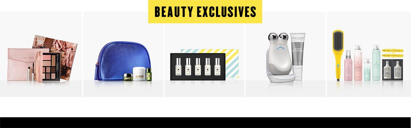 Anniversary beauty exclusives.