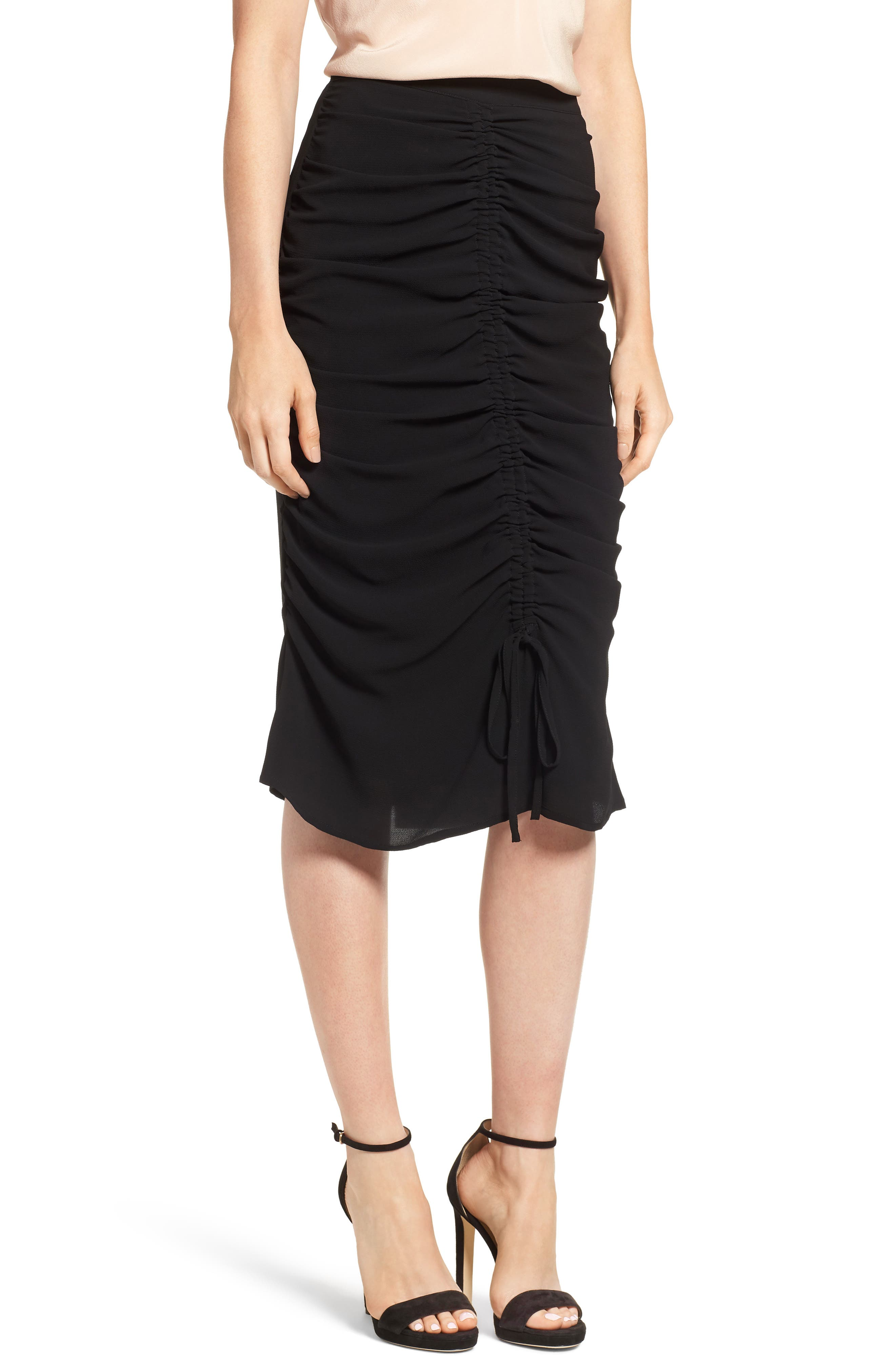 Chelsea28 Ruched Pencil Skirt