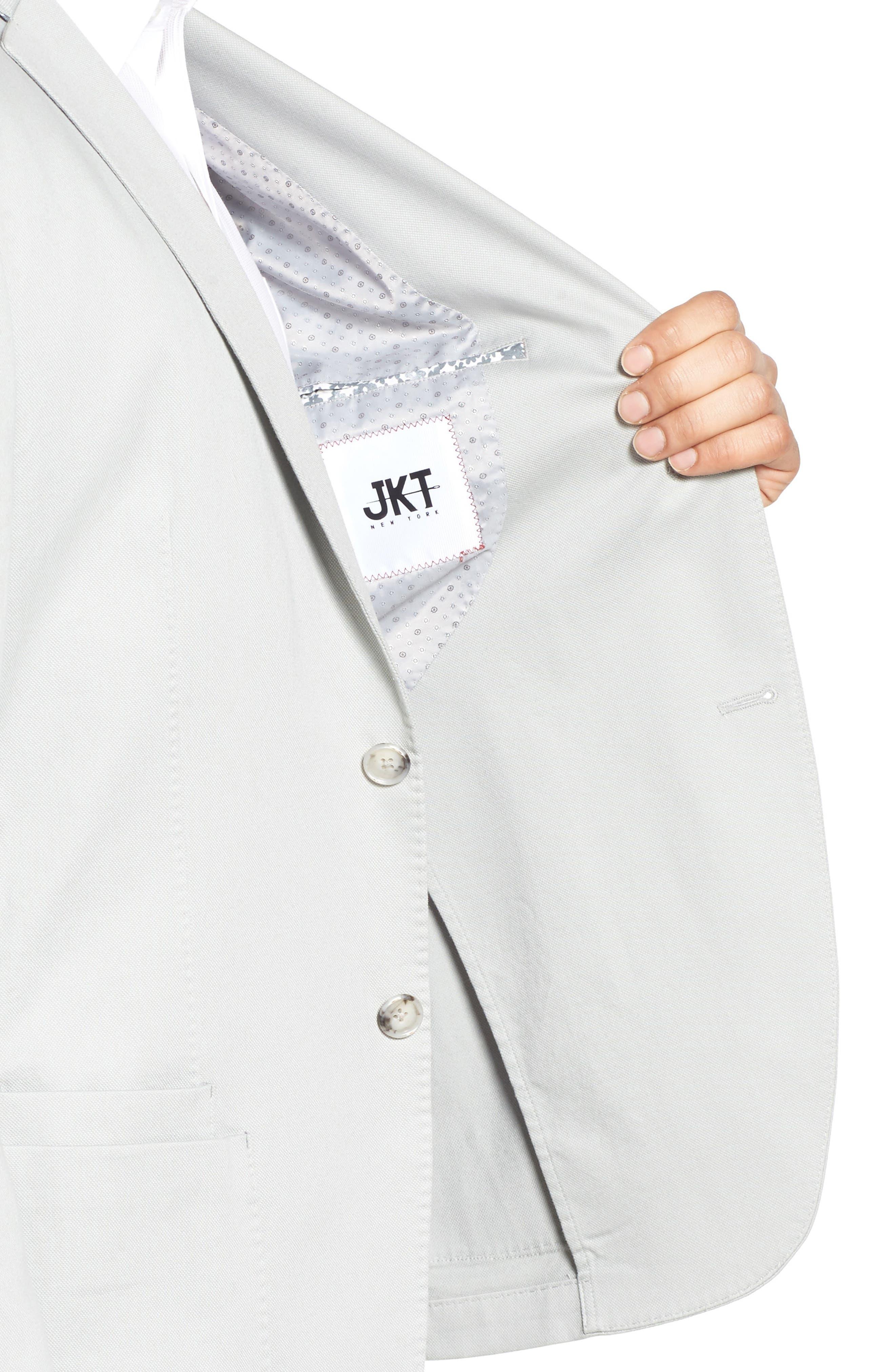 Trim Fit Stretch Cotton Blazer,                             Alternate thumbnail 4, color,                             051