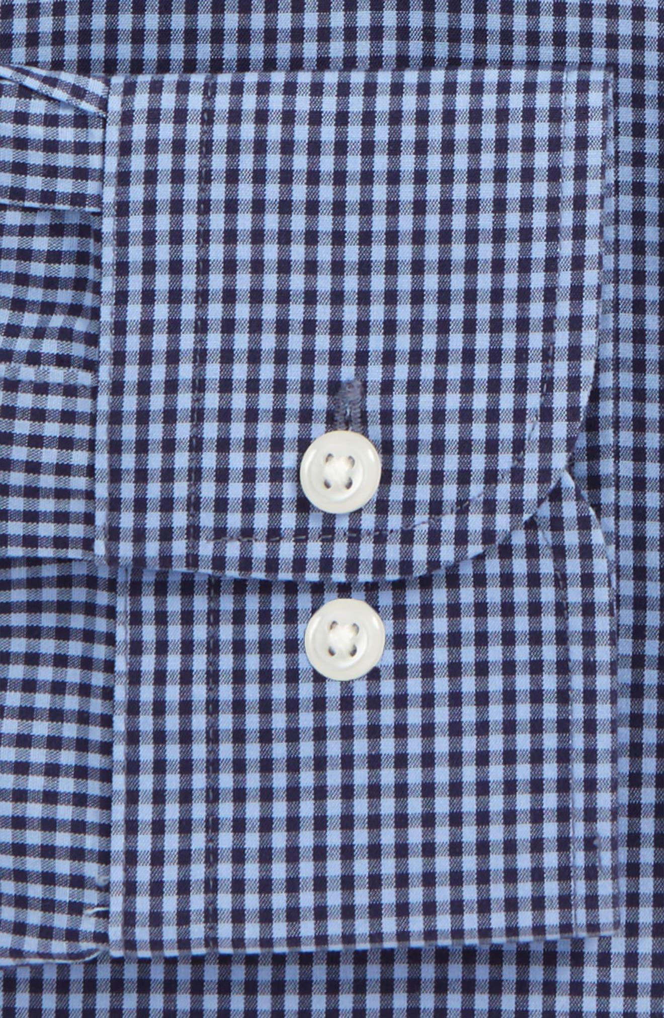 Smartcare<sup>™</sup> Trim Fit Check Dress Shirt,                             Alternate thumbnail 22, color,