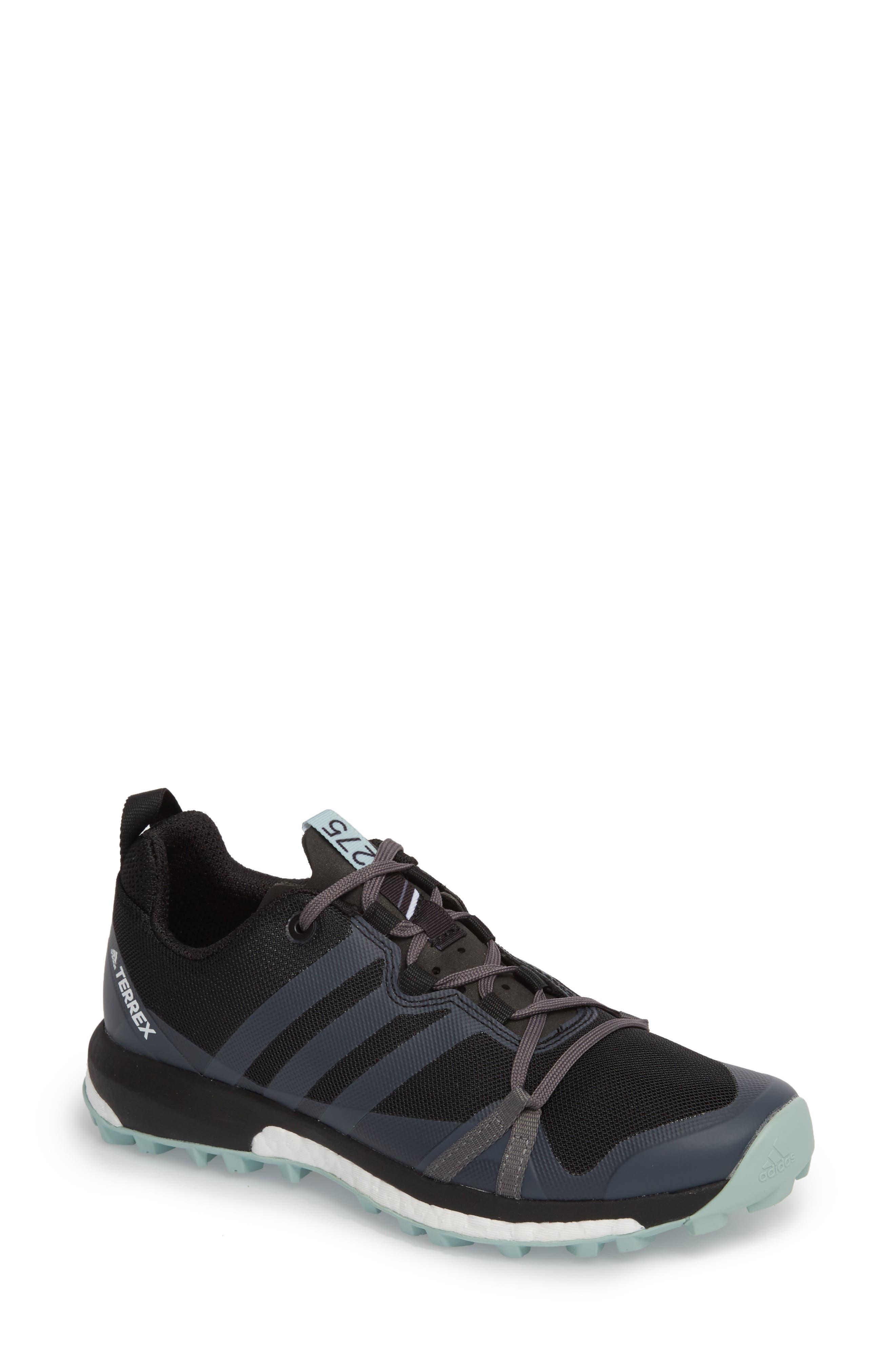 Terrex Agravic Trail Running Shoe,                             Main thumbnail 1, color,                             BLACK/ GREY THREE/ ASH GREEN