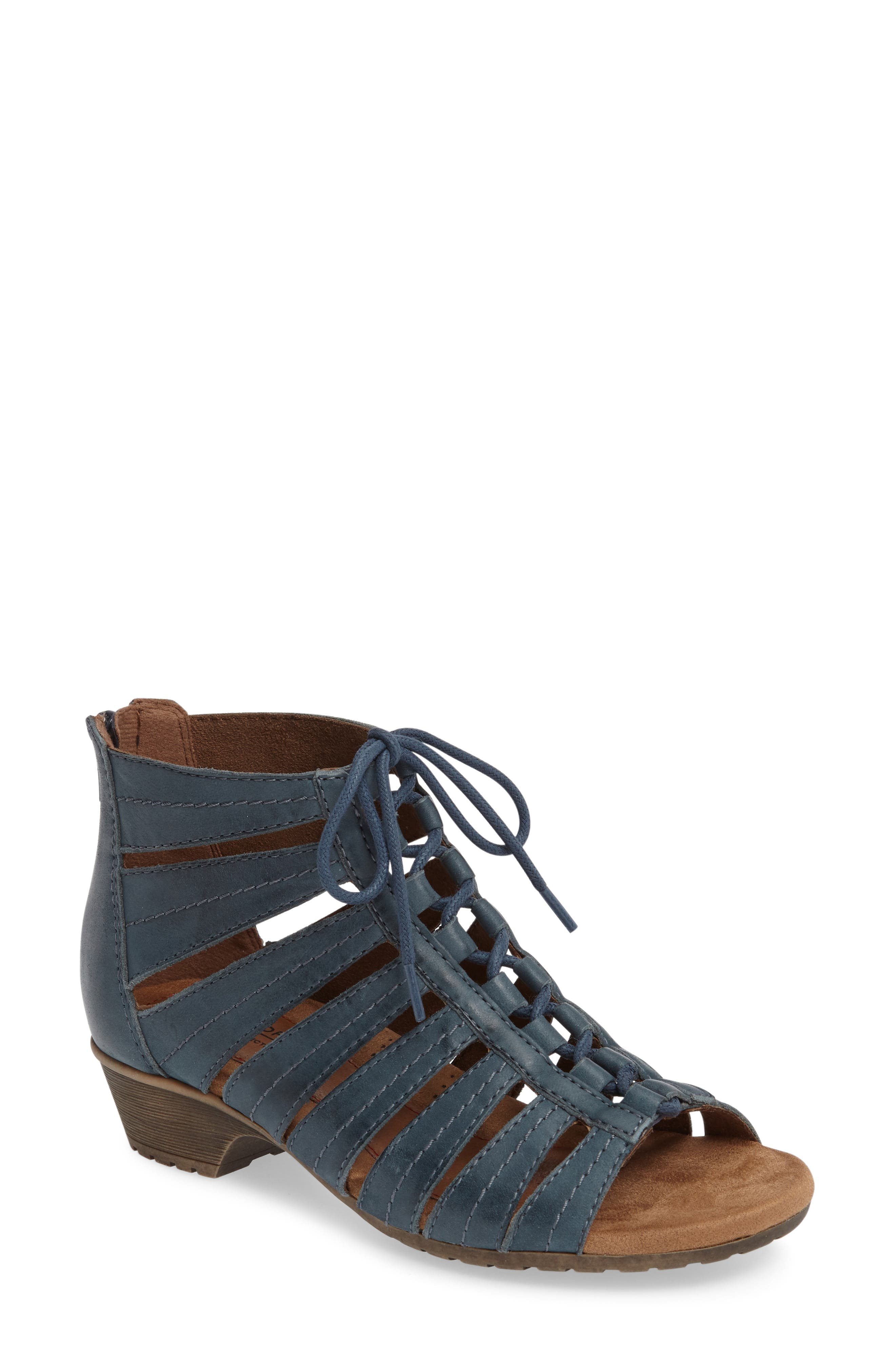 'Gabby' Lace-Up Sandal,                             Main thumbnail 7, color,