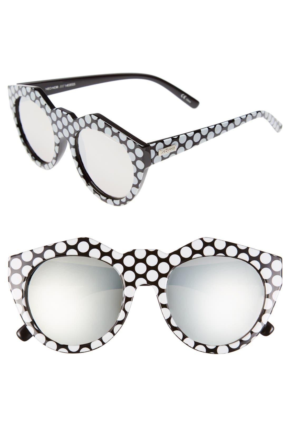 LE SPECS 'Neo Noir' 53mm Oversized Sunglasses, Main, color, 001