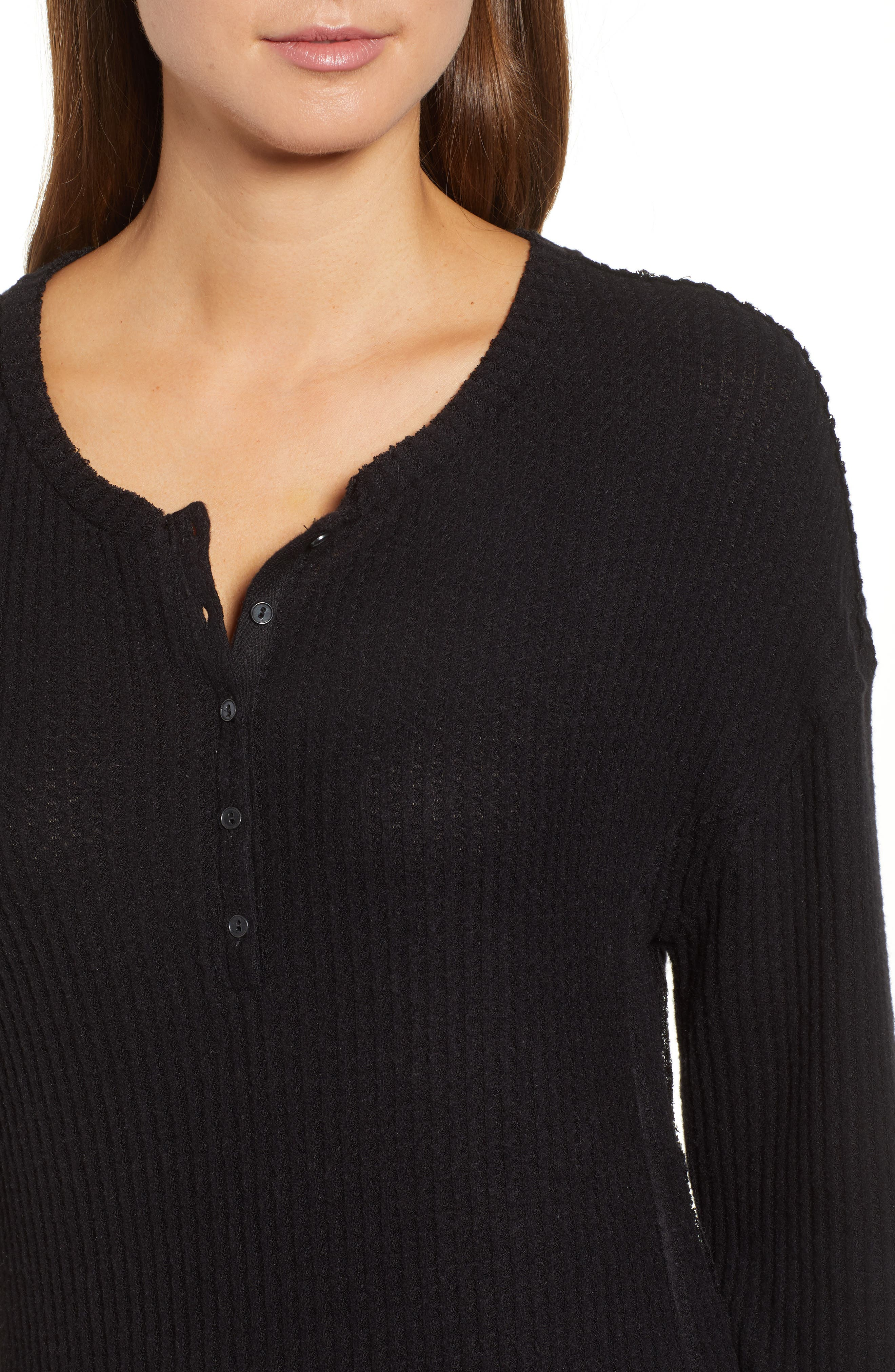 Thermal Henley Top,                             Alternate thumbnail 4, color,                             001