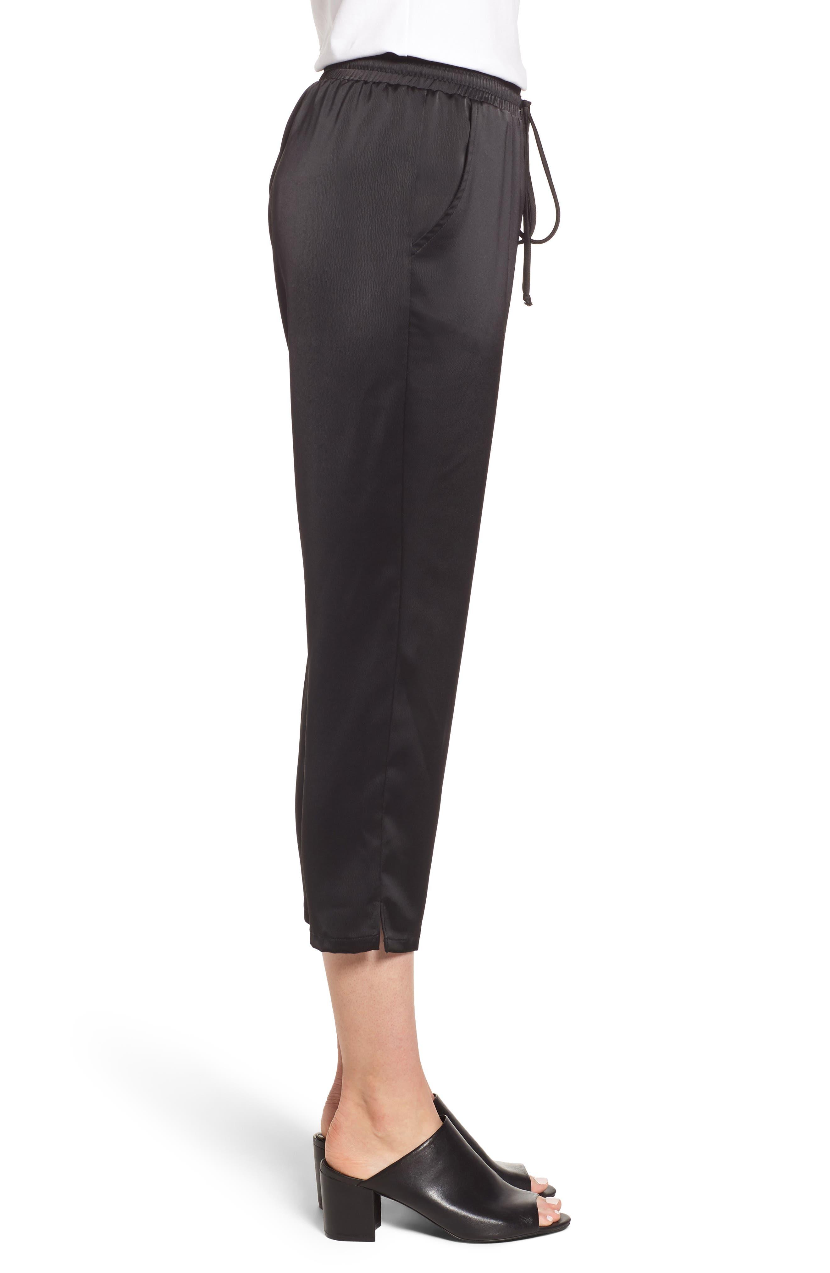 x Glam Squad Simple Jogger Pants,                             Alternate thumbnail 4, color,                             BLACK