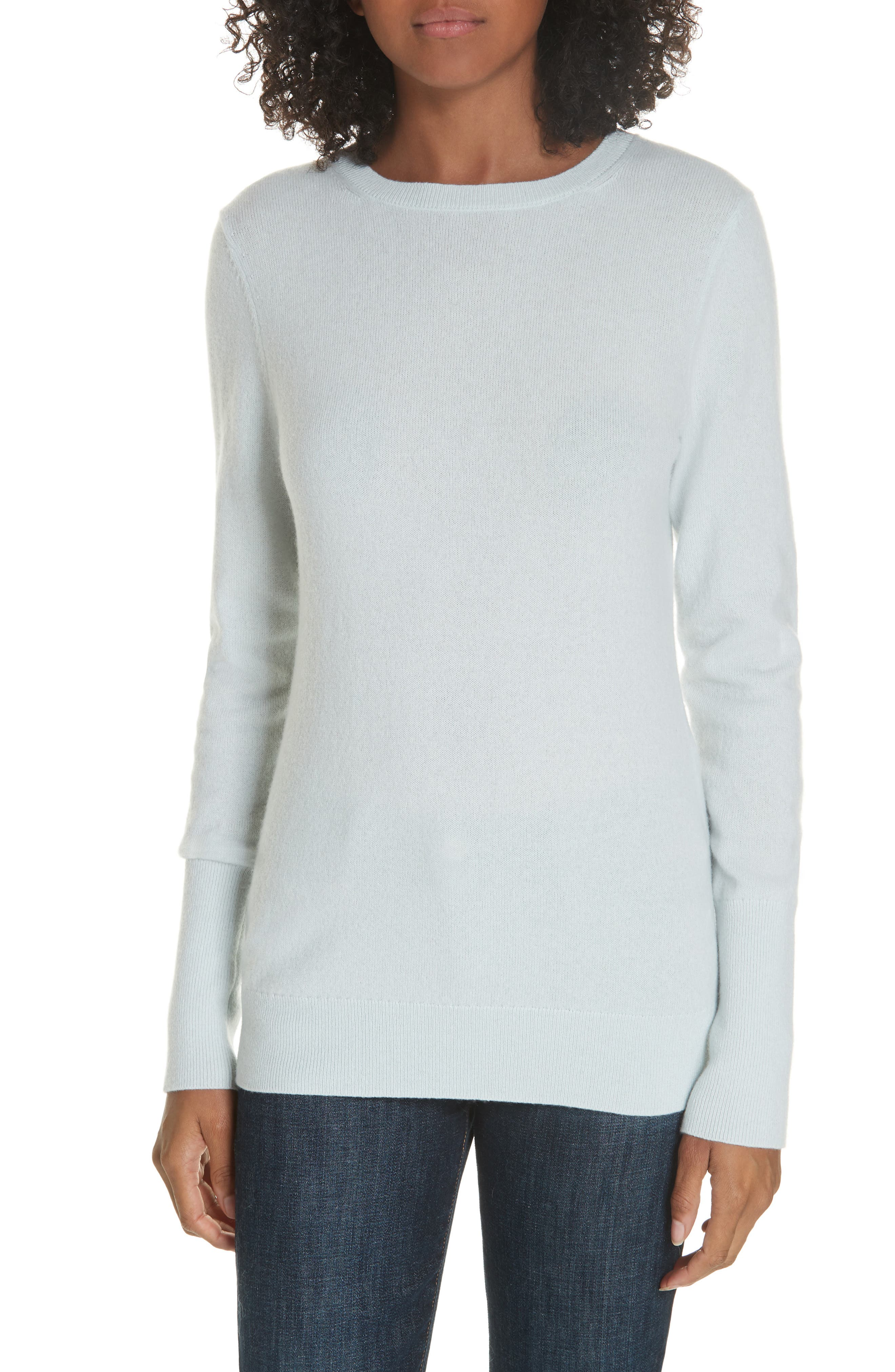 Cashmere Pullover,                         Main,                         color, BLUE WANDER