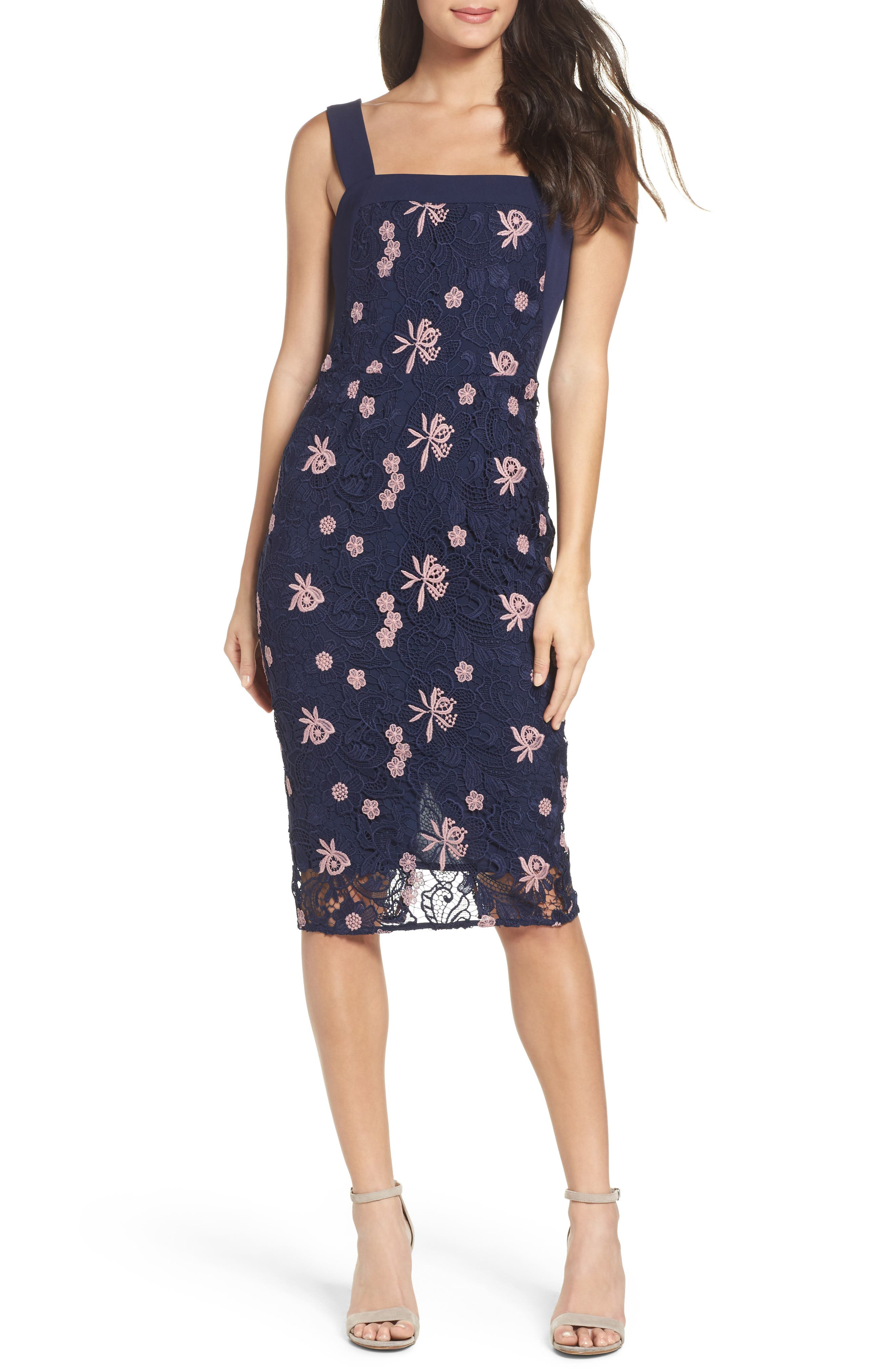 Botanic Bloom Sheath Dress,                             Main thumbnail 1, color,