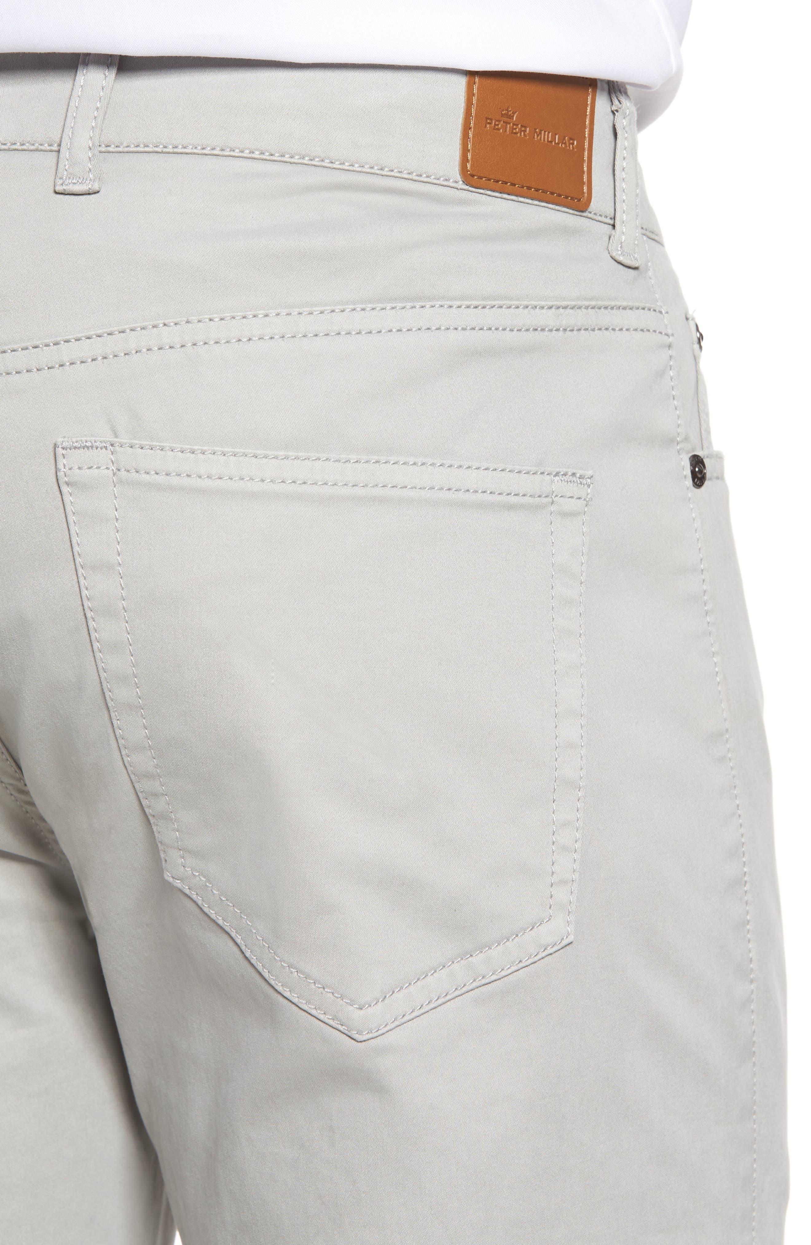 Stretch Sateen Five-Pocket Pants,                             Alternate thumbnail 4, color,                             050