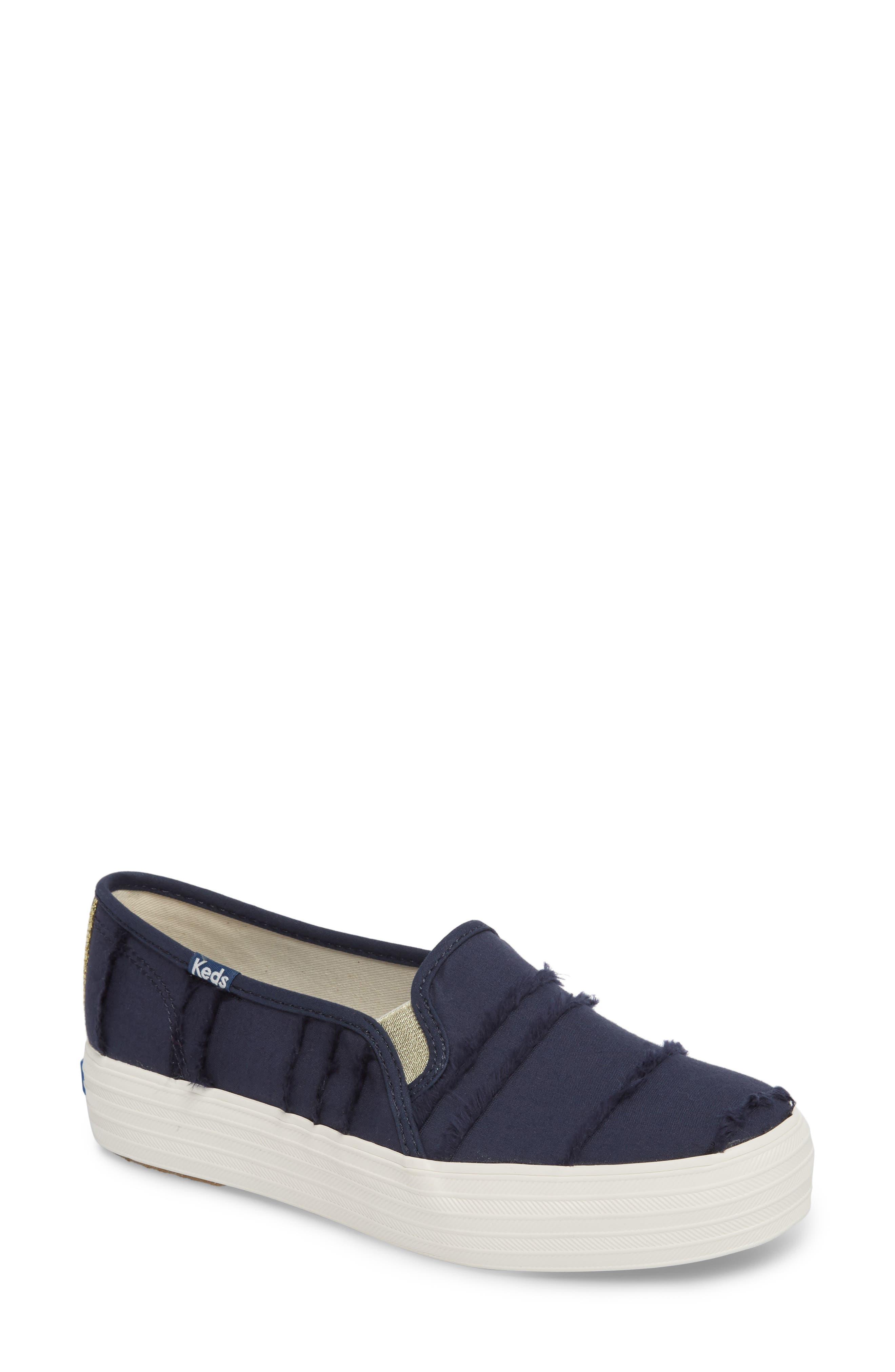 Triple Decker Eyelash Fringe Slip-On Sneaker,                         Main,                         color, 400