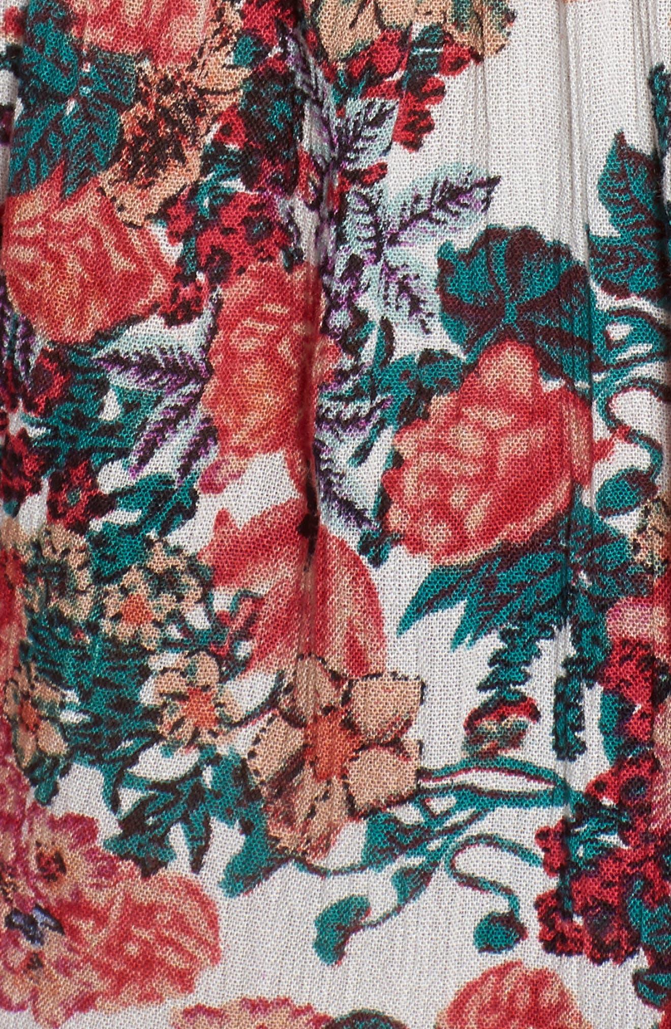 Garden Delight Floral Print Romper,                             Alternate thumbnail 6, color,                             650