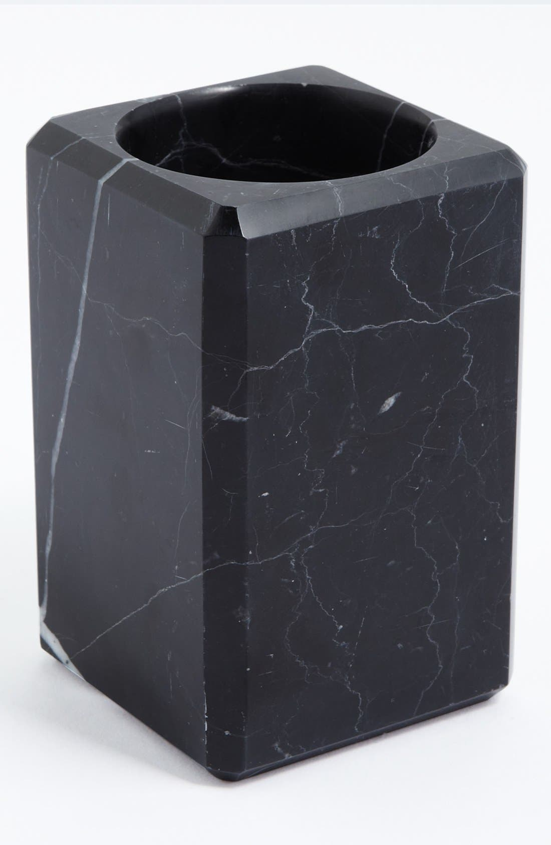 Studio 'Luna' Black Marble Tumbler,                             Main thumbnail 1, color,                             BLACK