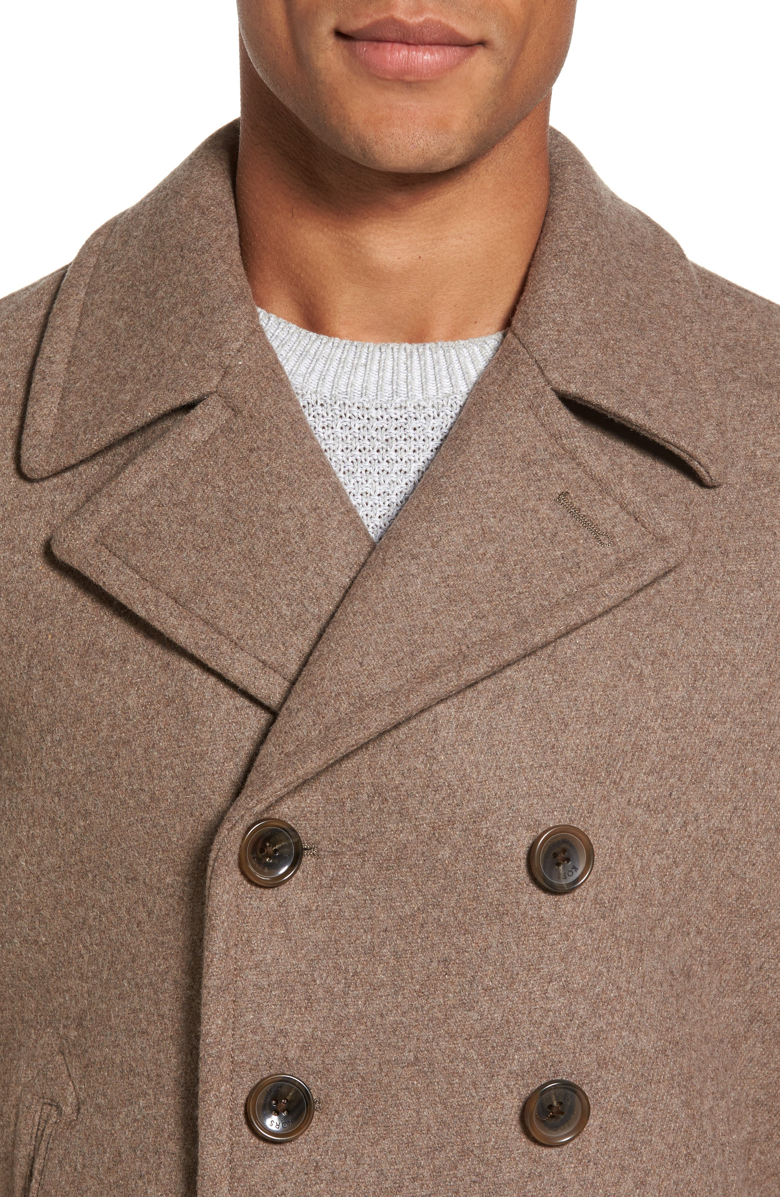 Wool Blend Double Breasted Peacoat,                             Alternate thumbnail 62, color,