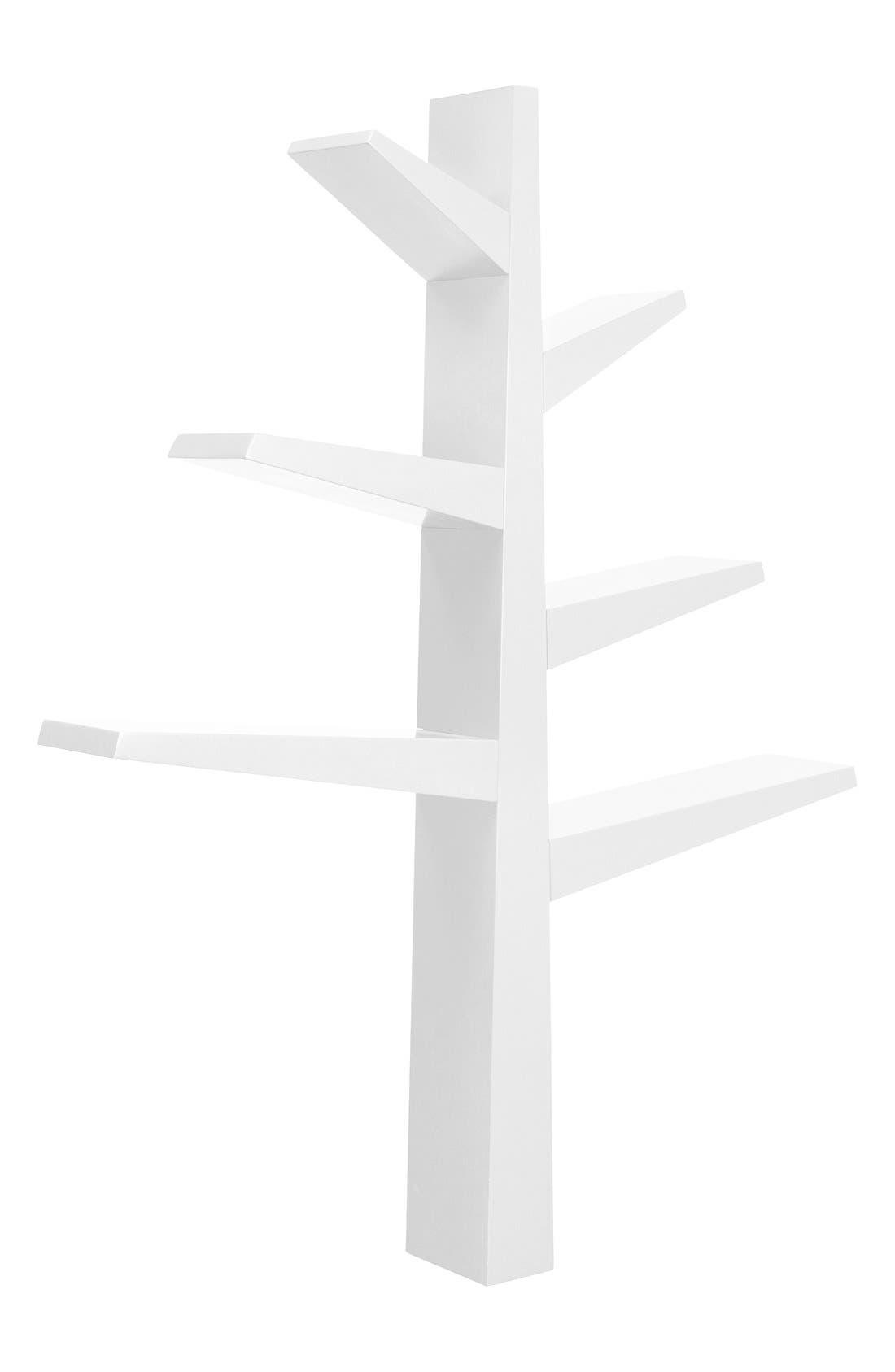 'Spruce Tree' Bookcase,                             Alternate thumbnail 2, color,                             WHITE