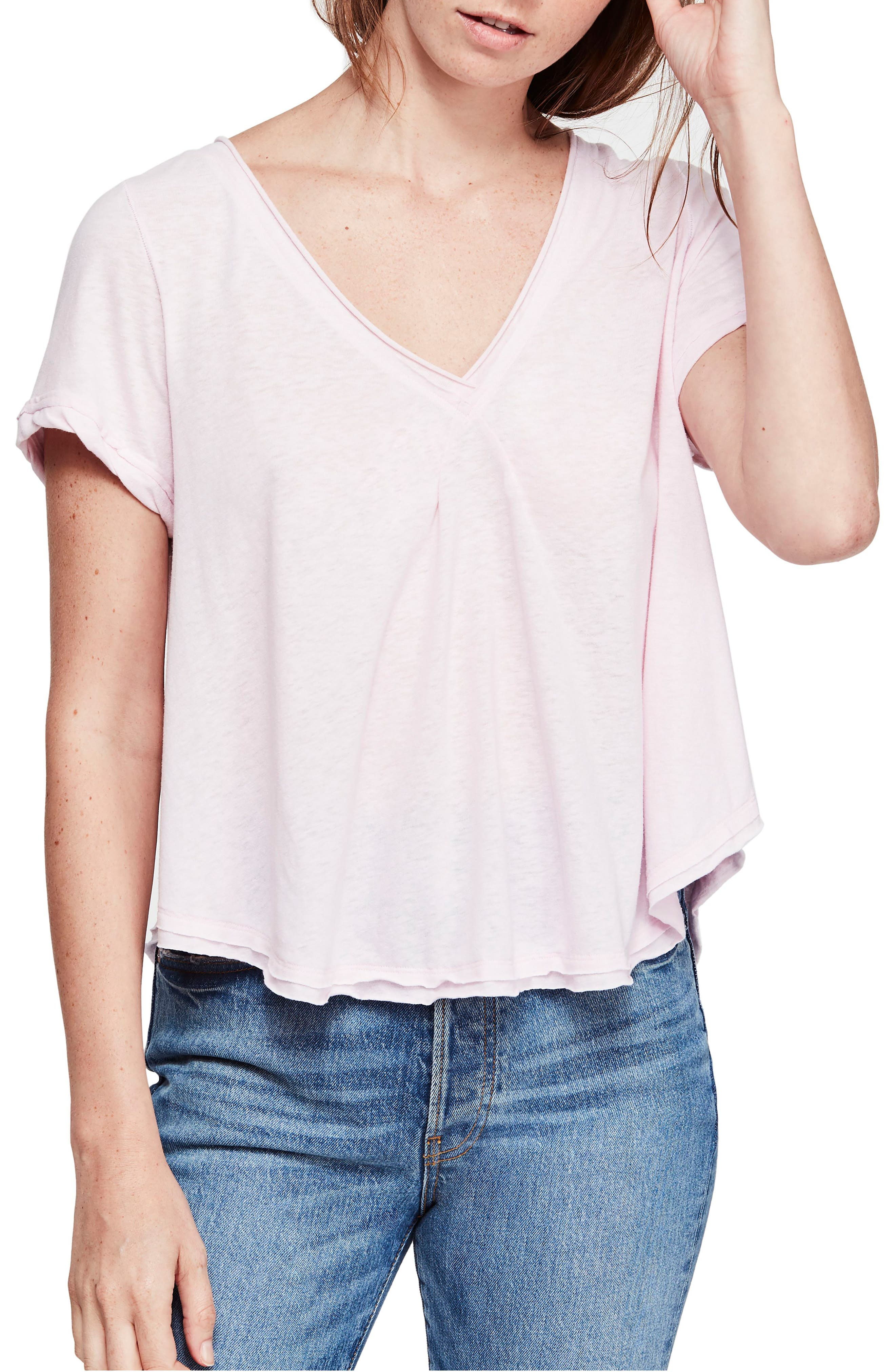 Free People All You Need Tee, Pink