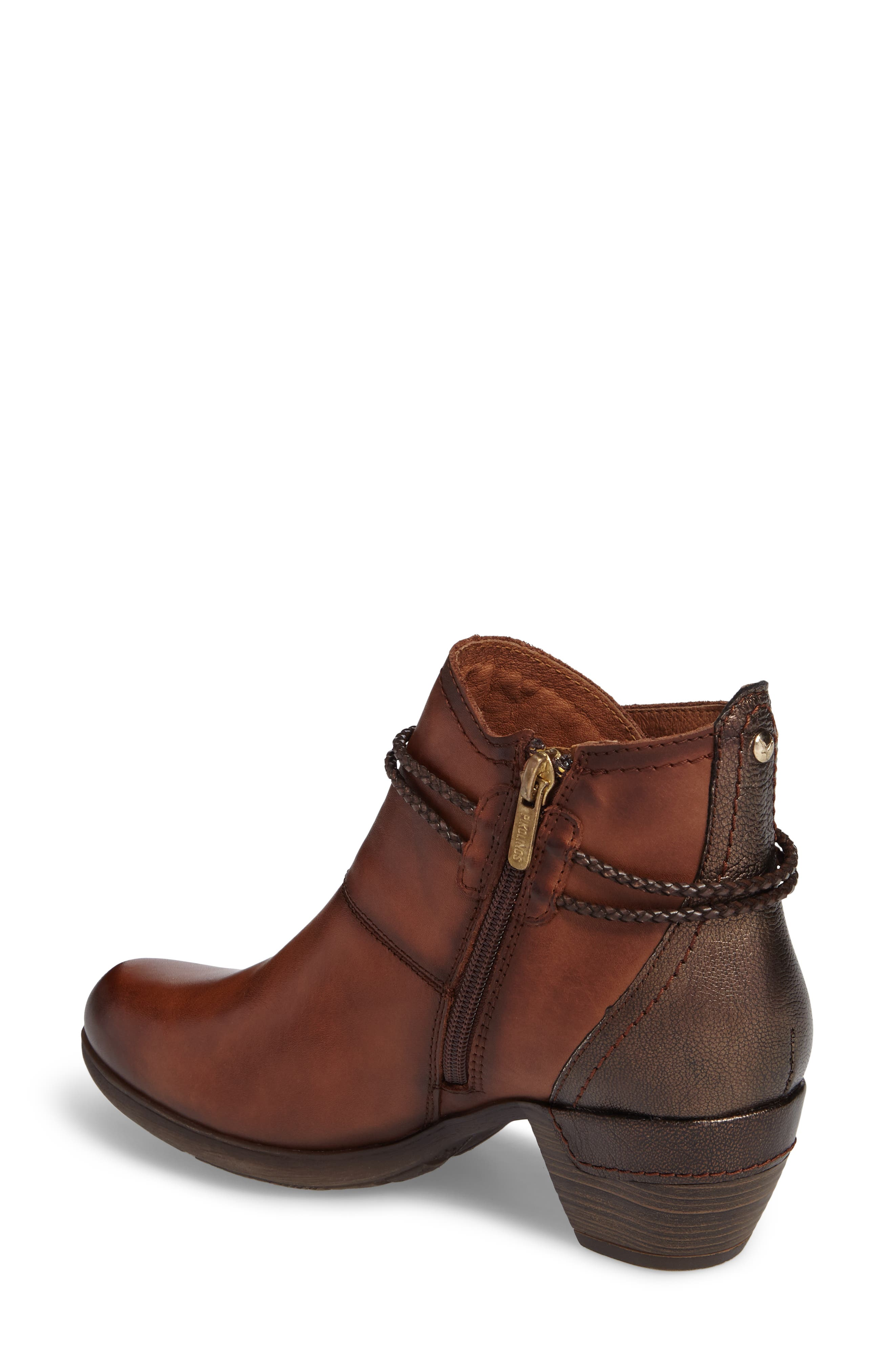 'Rotterdam' Braid Strap Bootie,                             Alternate thumbnail 2, color,                             CUERO BROWN OLMO LEATHER