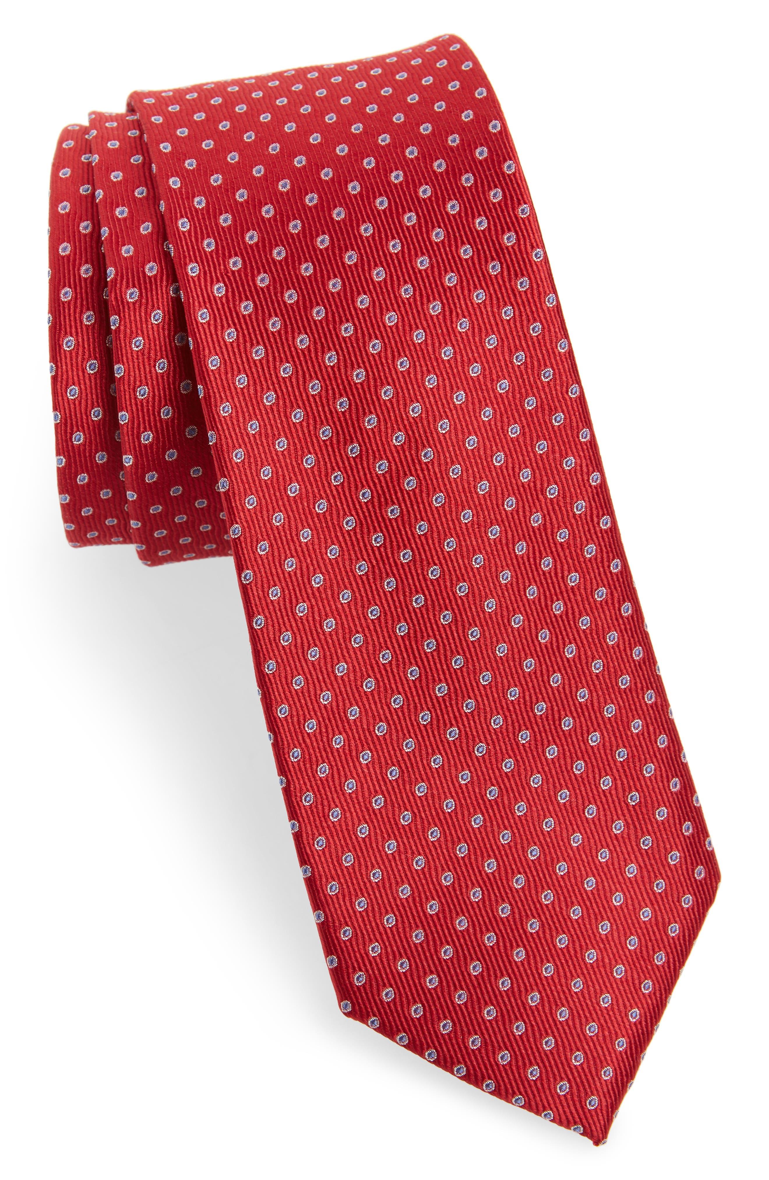 Newport Dot Silk Tie,                             Main thumbnail 6, color,