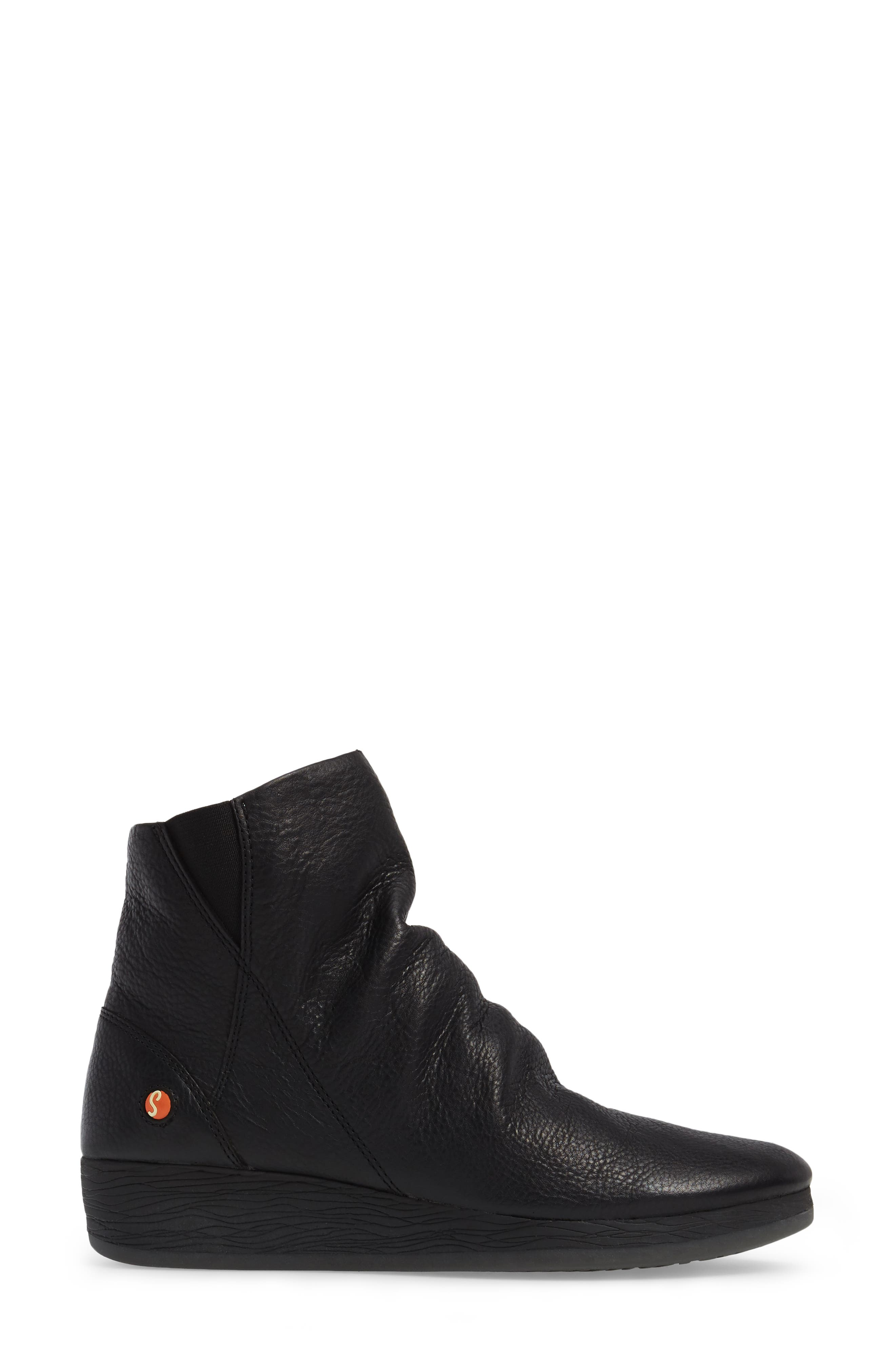 Ayo Low Wedge Bootie,                             Alternate thumbnail 3, color,                             001
