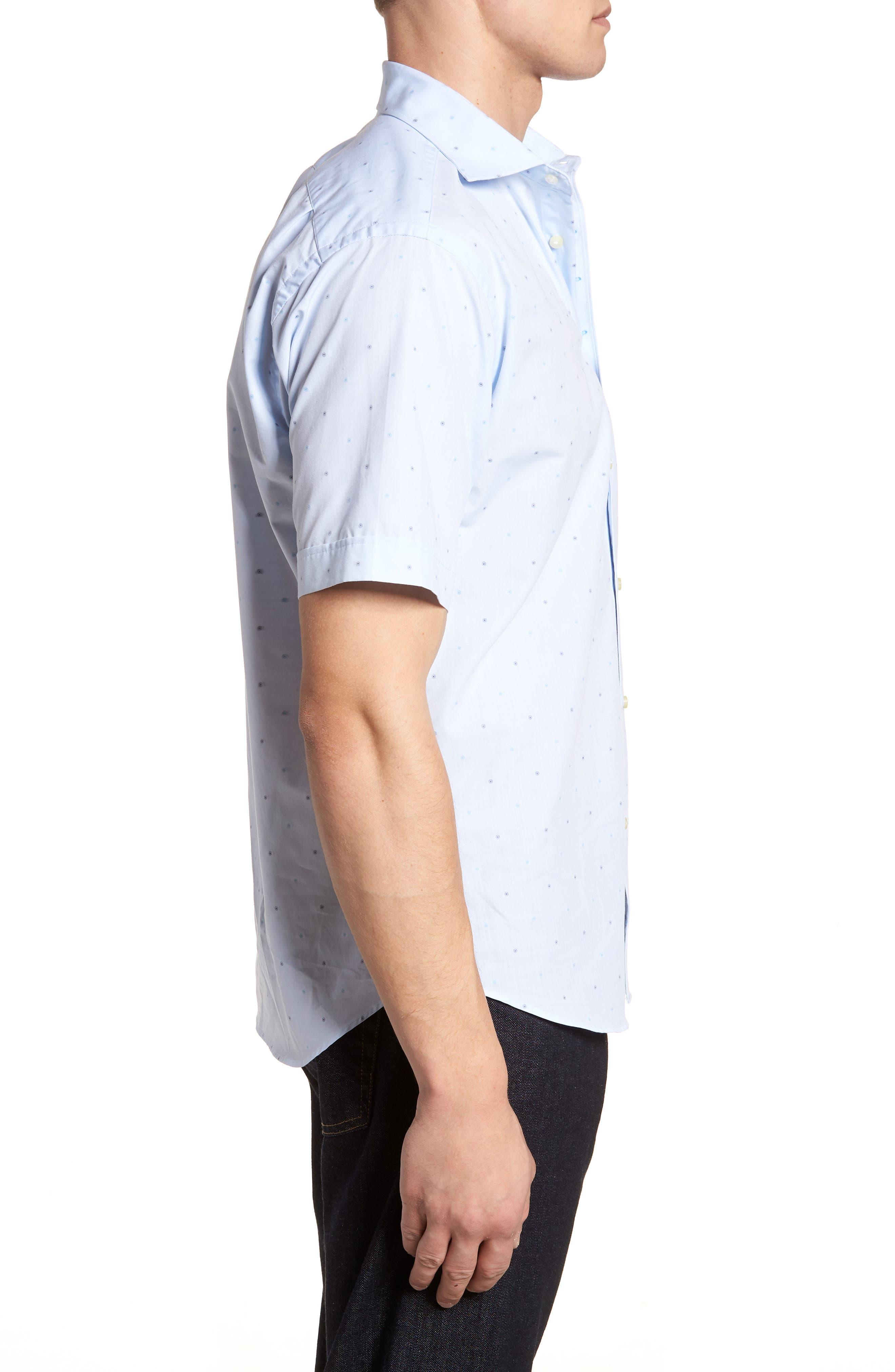 Regular Fit Dot Sport Shirt,                             Alternate thumbnail 3, color,