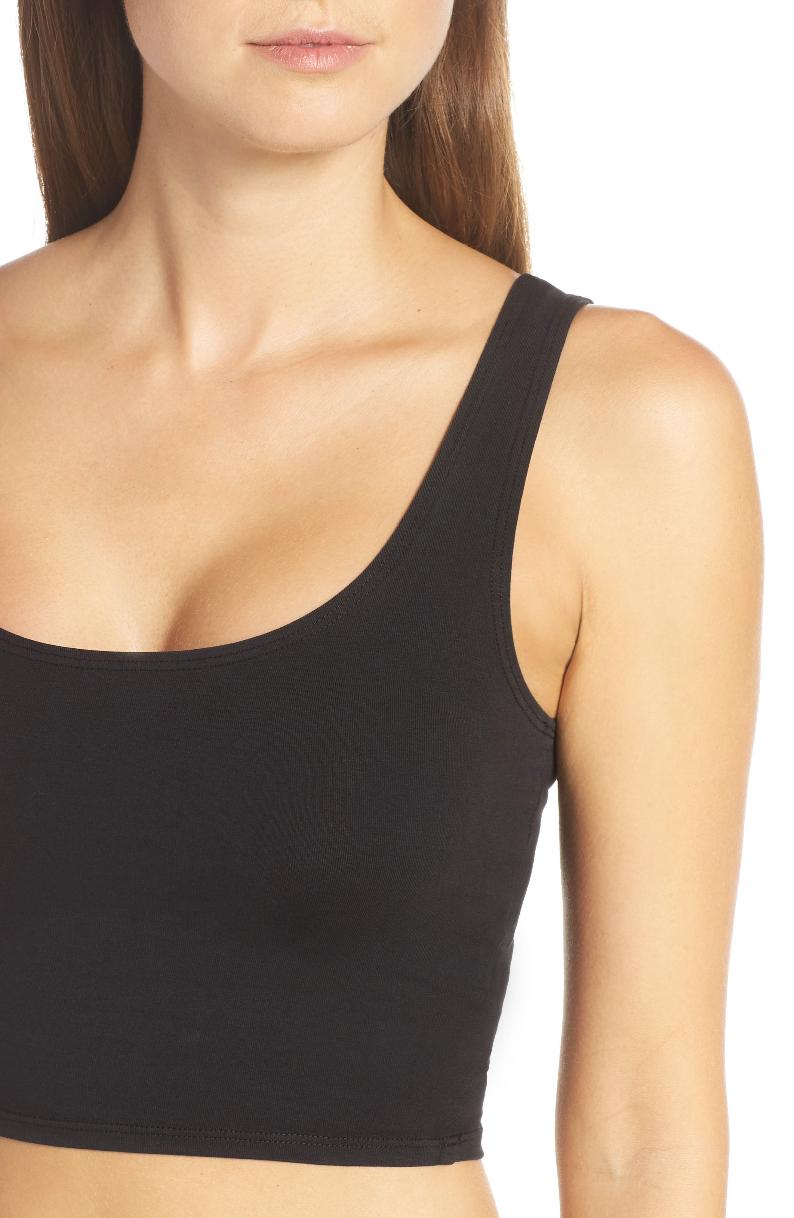 Fitted Crop Tank,                             Alternate thumbnail 4, color,                             001