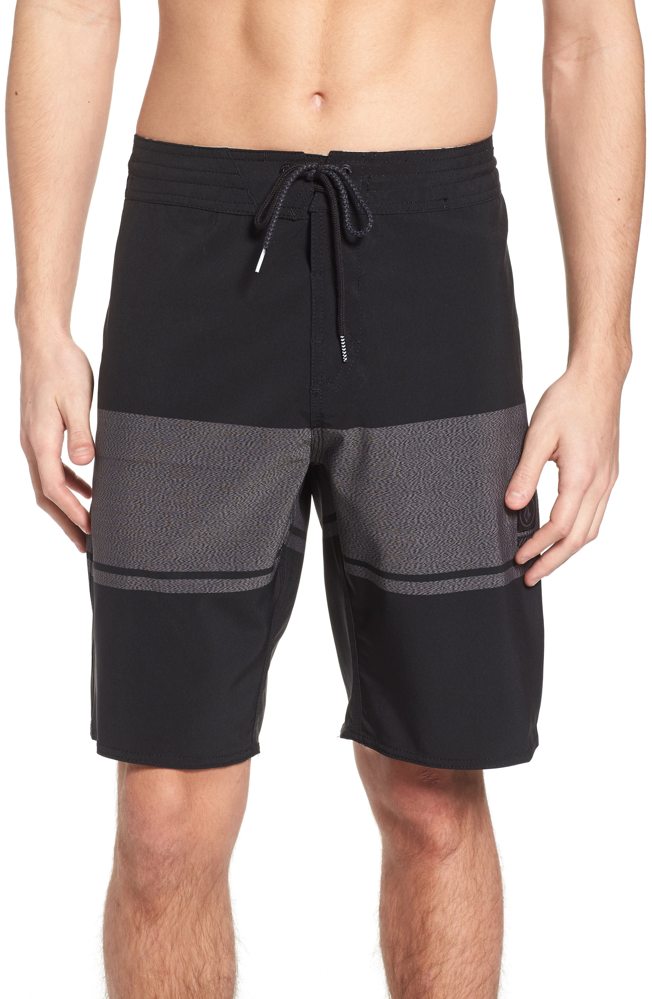 Quarter Static Stoney Board Shorts,                             Main thumbnail 1, color,                             BLACK