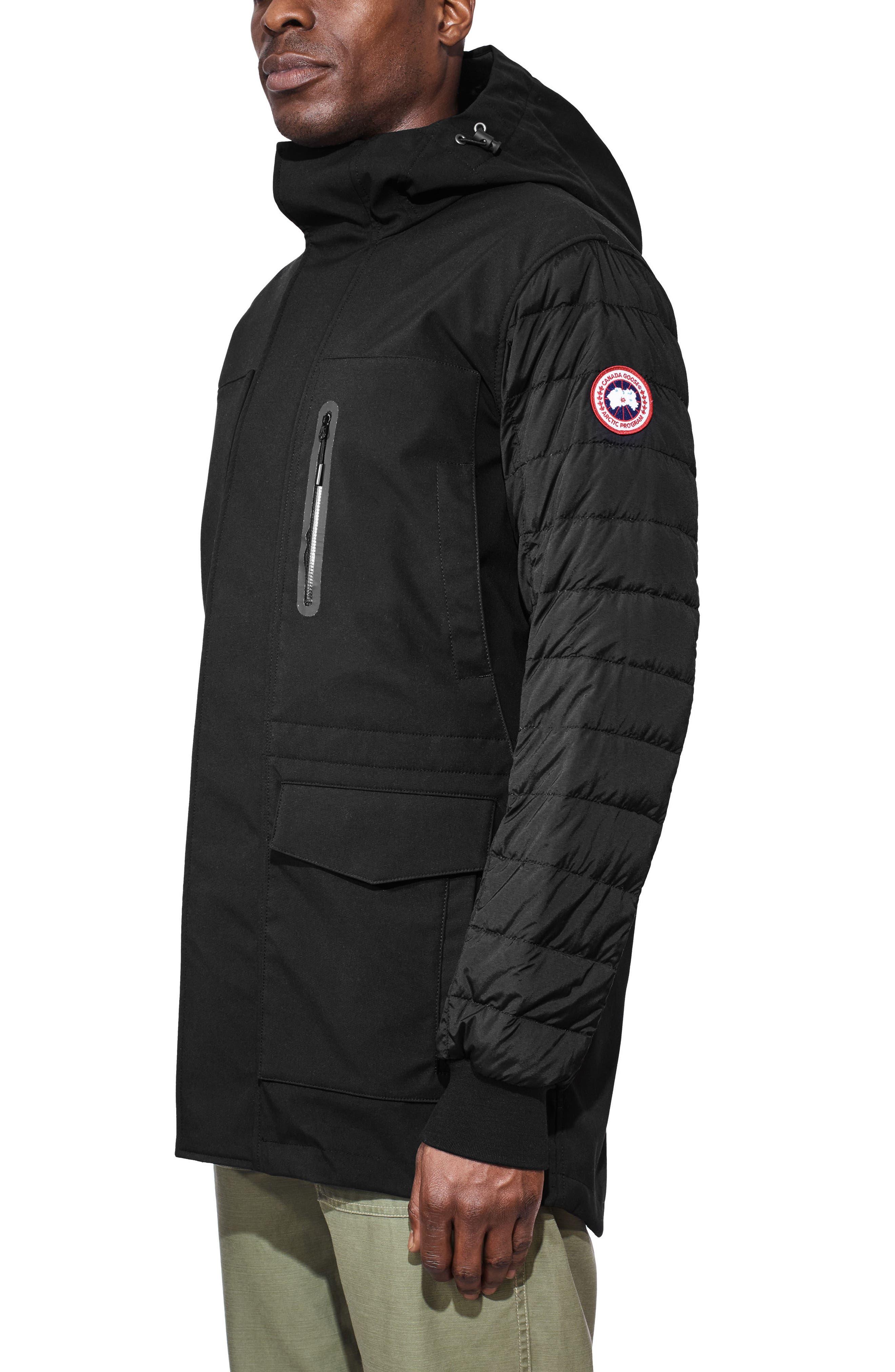 Selwyn Down Filled Coat,                             Alternate thumbnail 3, color,                             BLACK/ BLACK