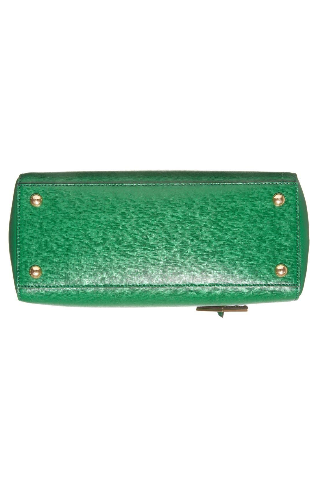 'Petite 2Jours Elite' Leather Shopper,                             Alternate thumbnail 56, color,