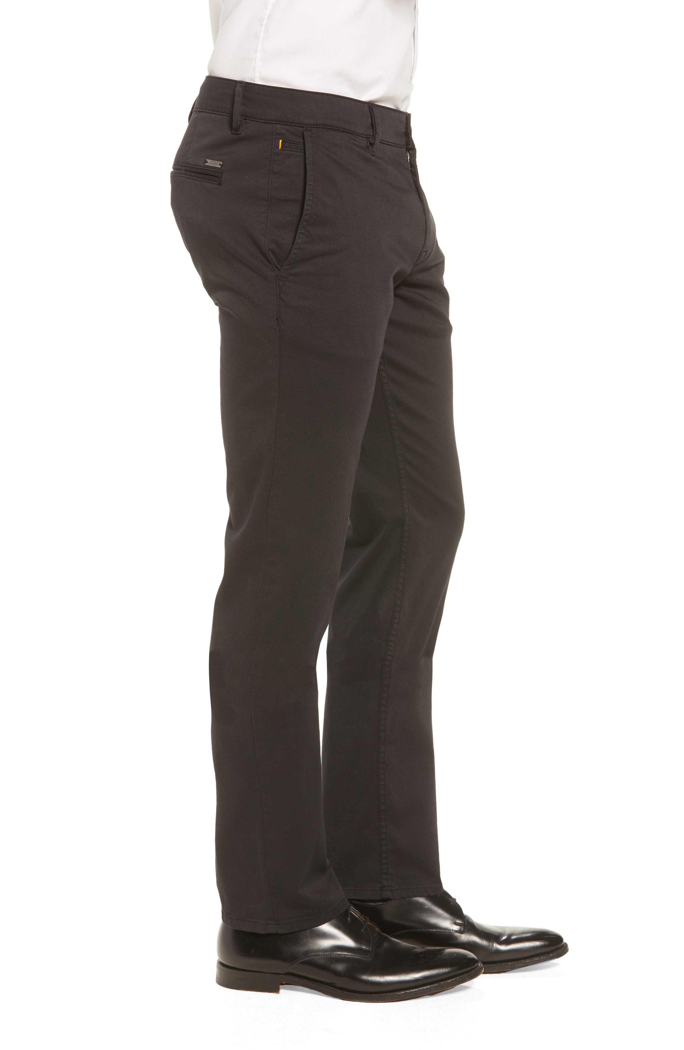 Stretch Chino Pants,                             Alternate thumbnail 3, color,                             BLACK