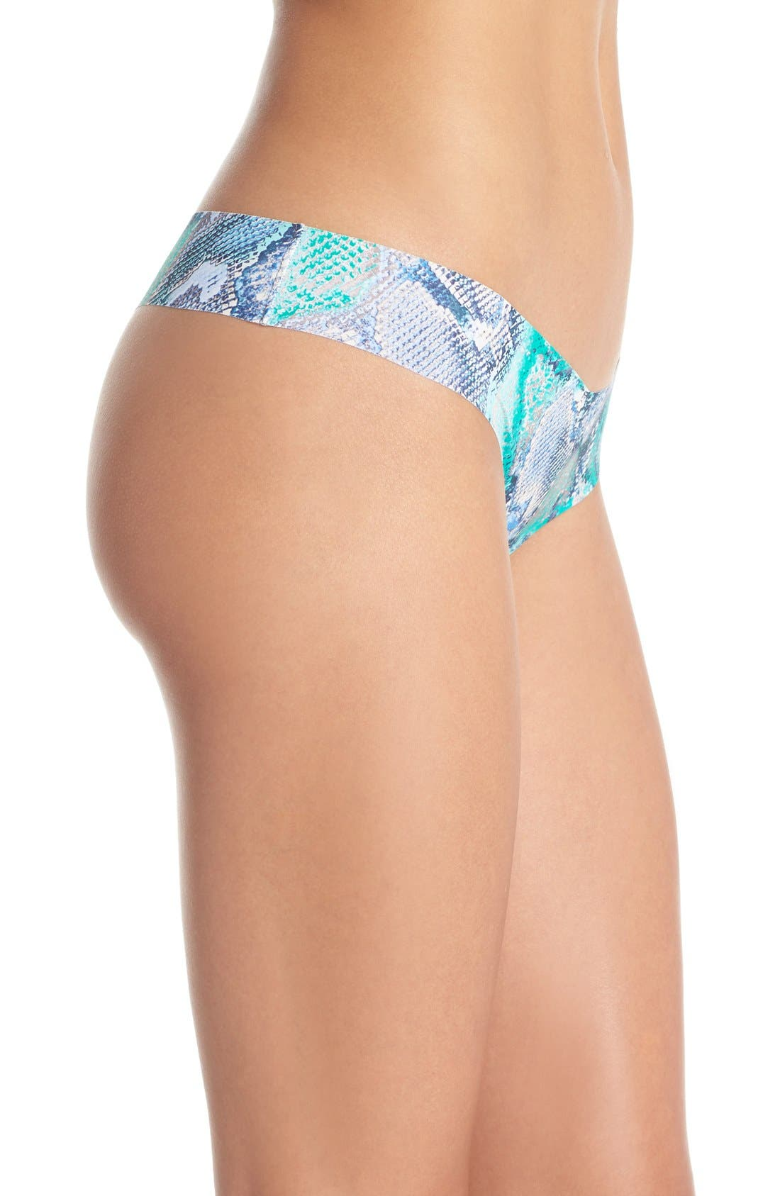 Print Microfiber Thong,                             Alternate thumbnail 229, color,