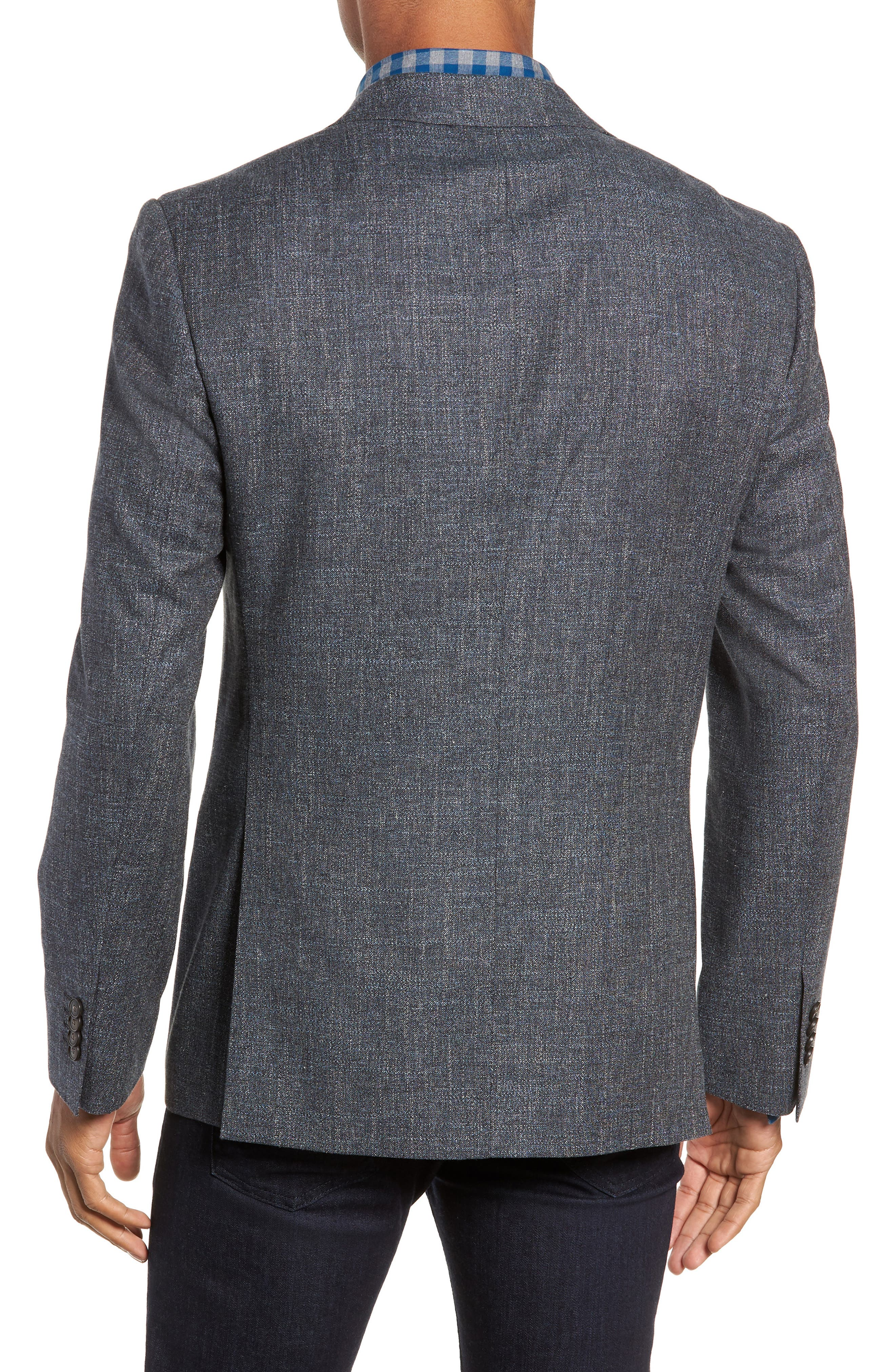 Renton Road Wool & Linen Sport Coat,                             Alternate thumbnail 2, color,                             GRAPHITE