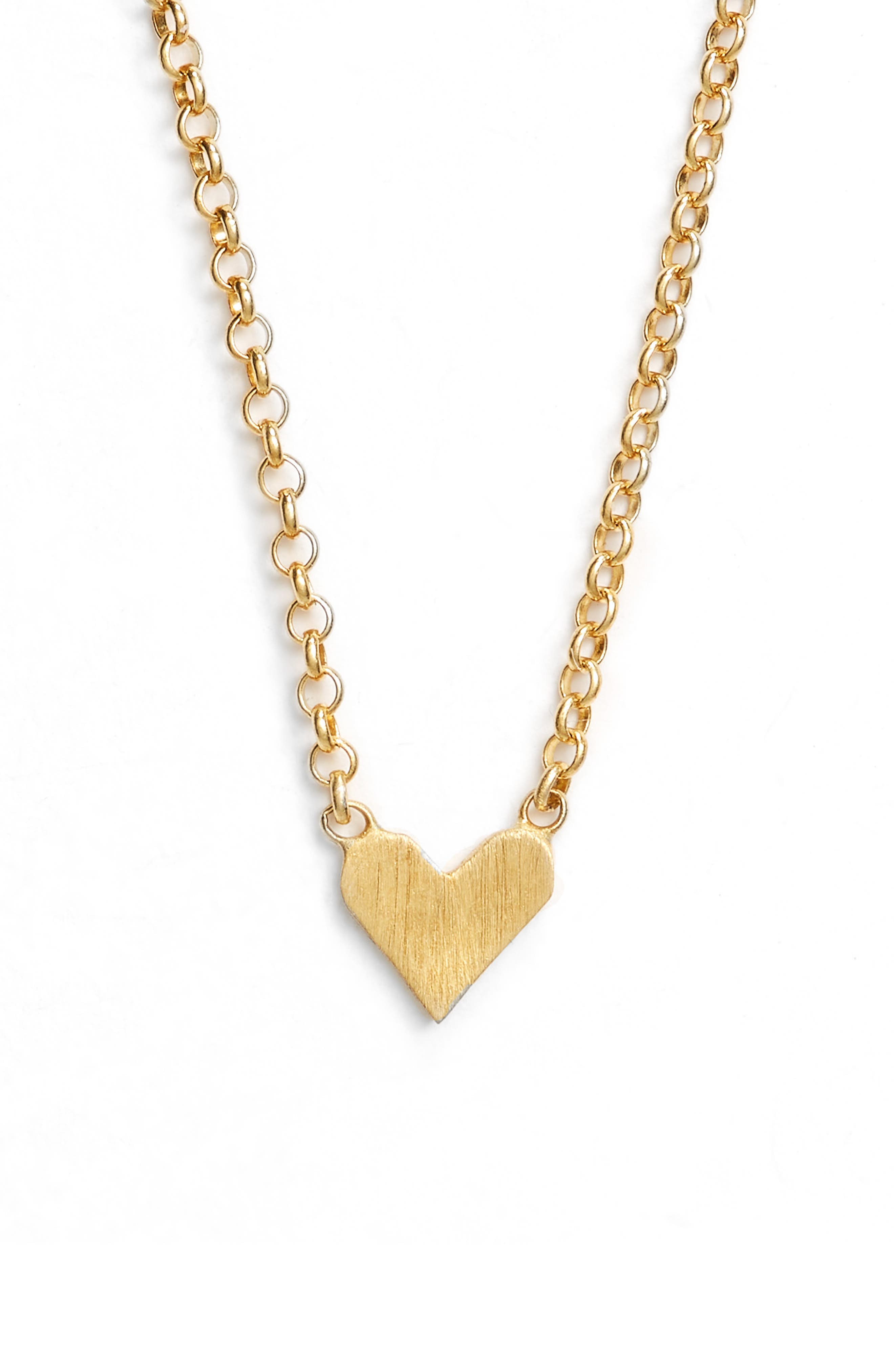 Love You Simple Heart Necklace,                             Alternate thumbnail 3, color,