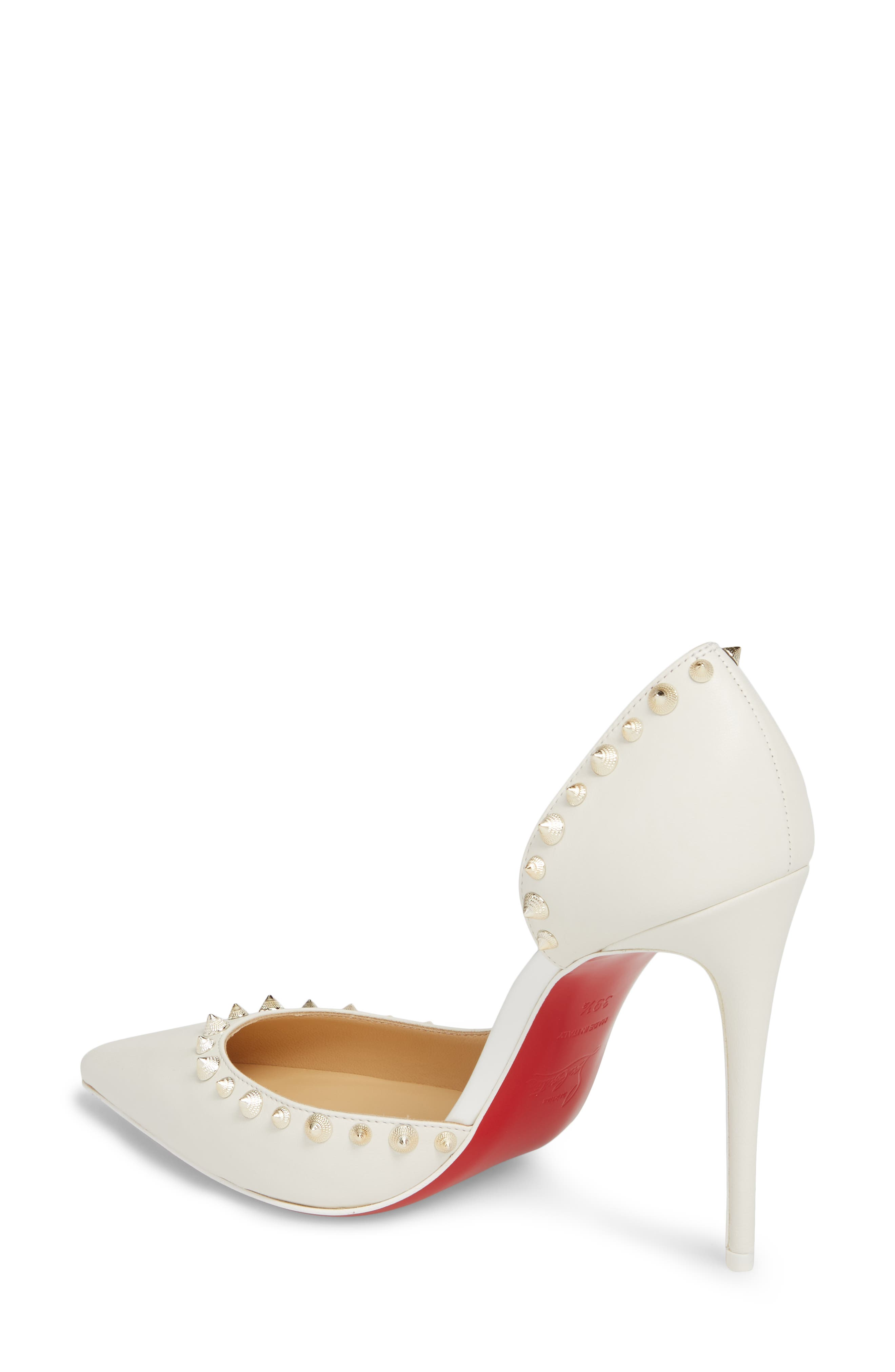 Irishell Spiked Half d'Orsay Pump,                             Alternate thumbnail 2, color,                             LATTE/ WHITE GOLD