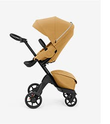 A baby stroller.