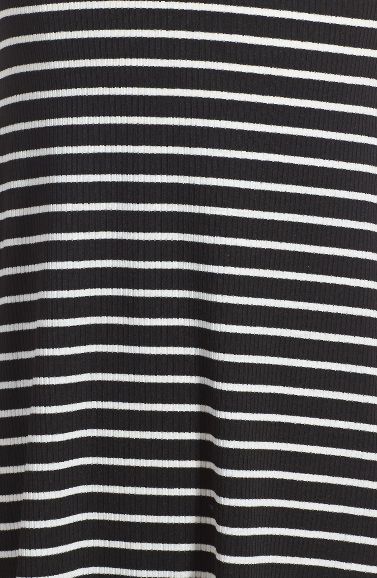 Phyllis Stripe Mock Neck Dress,                             Alternate thumbnail 8, color,
