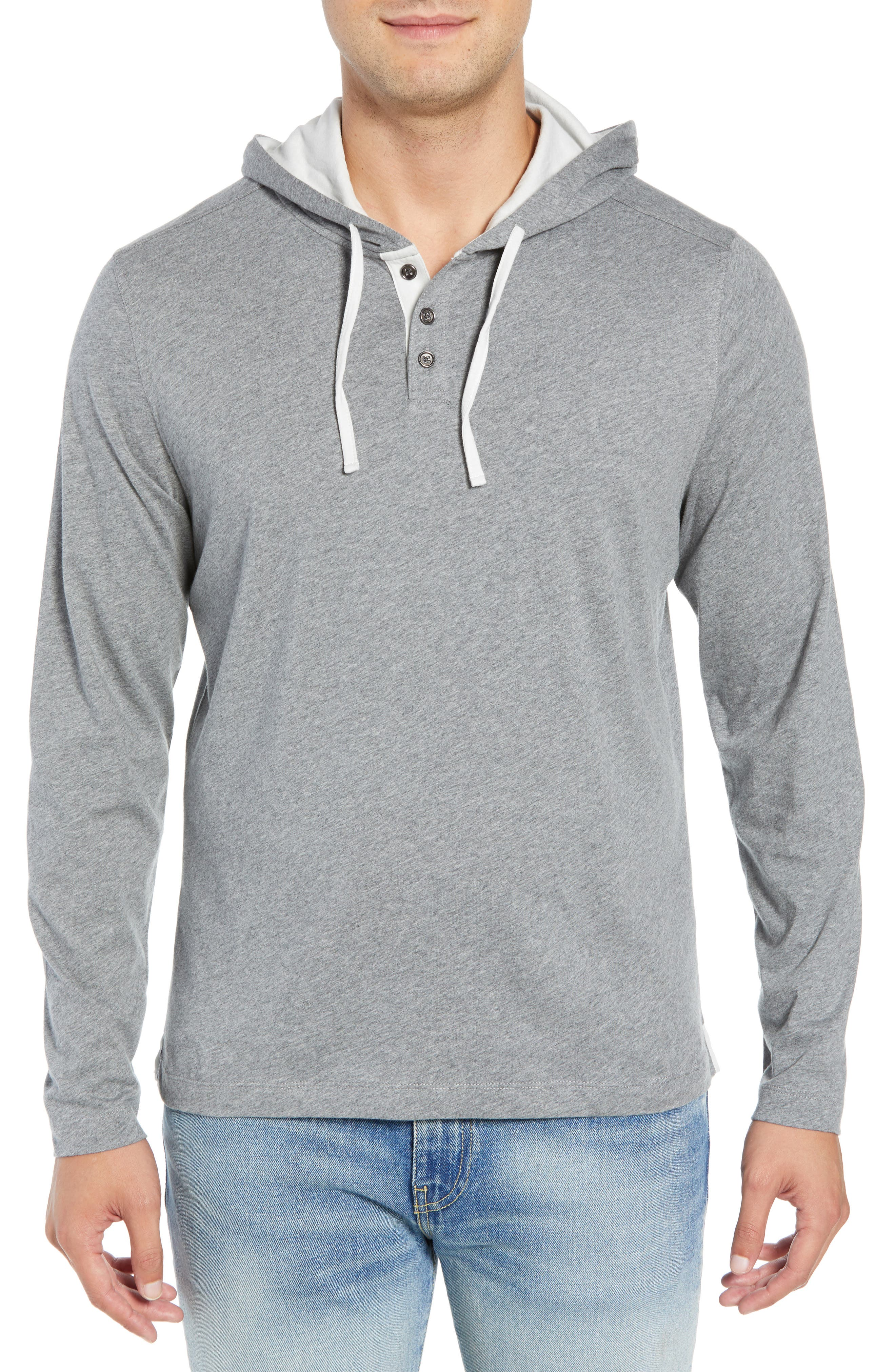 Carl Pullover Hoodie,                             Main thumbnail 1, color,                             MID GREY