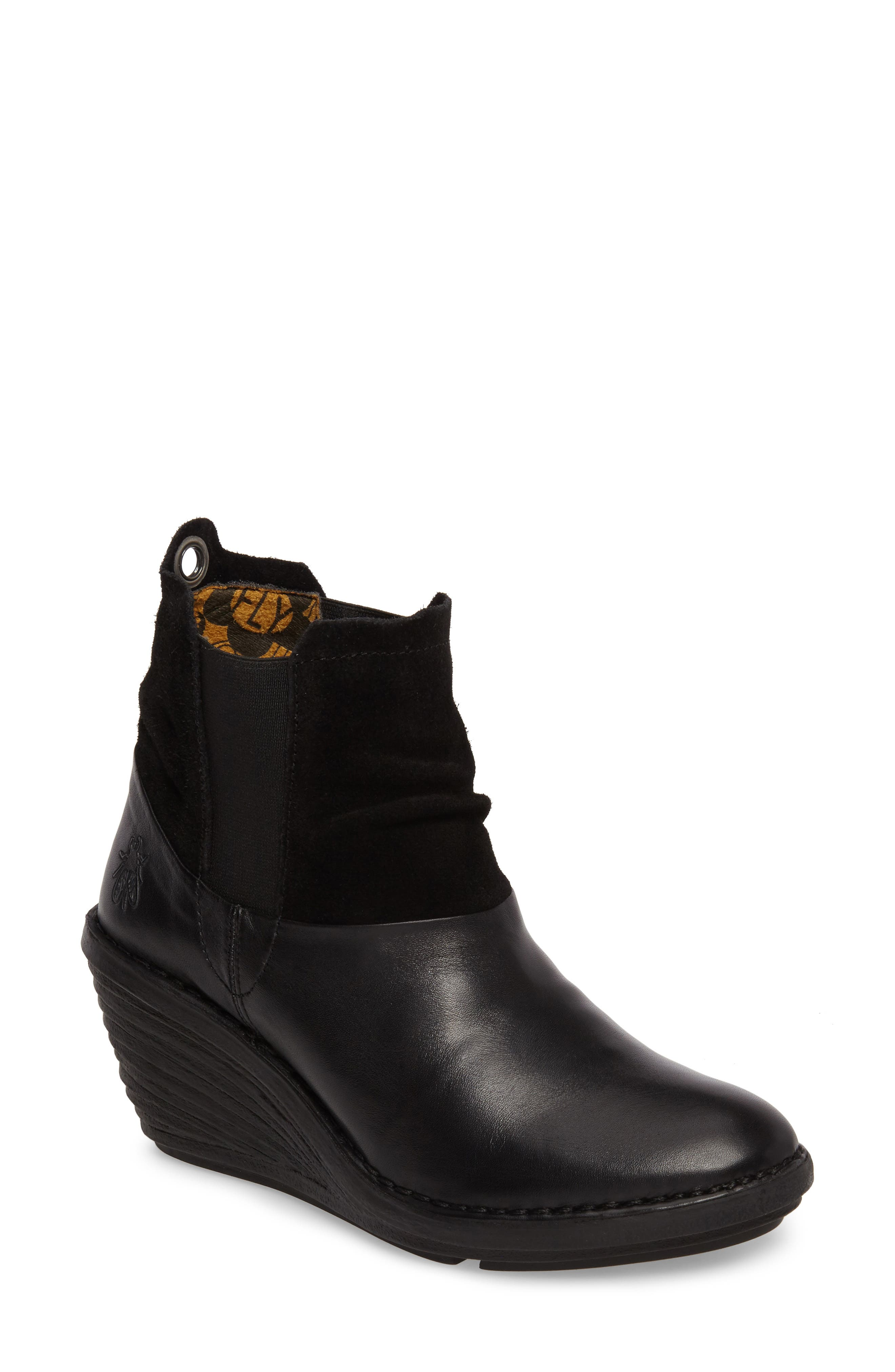 Sula Wedge Bootie,                             Main thumbnail 1, color,                             001