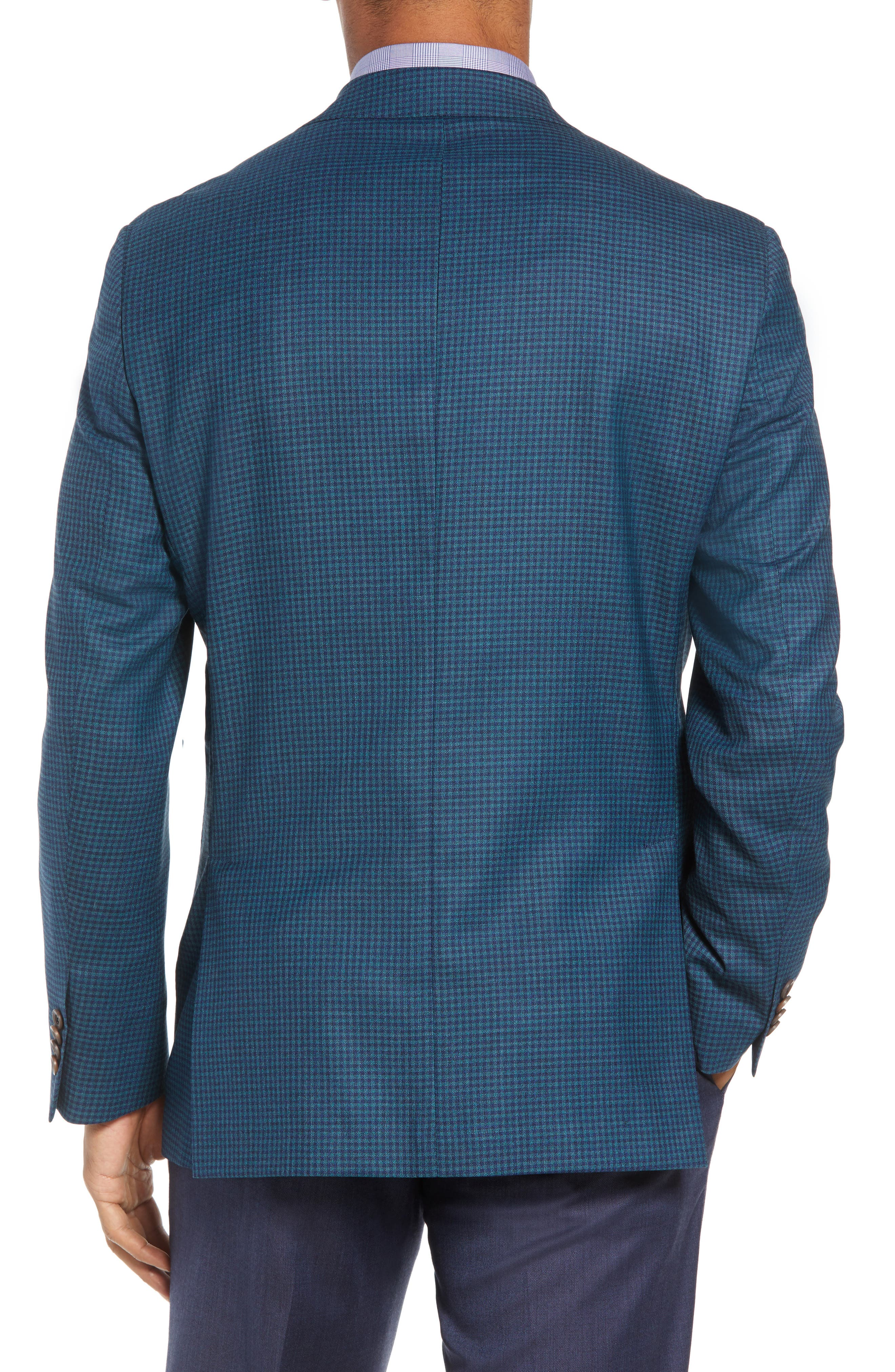 Aiden Classic Fit Check Wool Sport Coat,                             Alternate thumbnail 2, color,                             GREEN