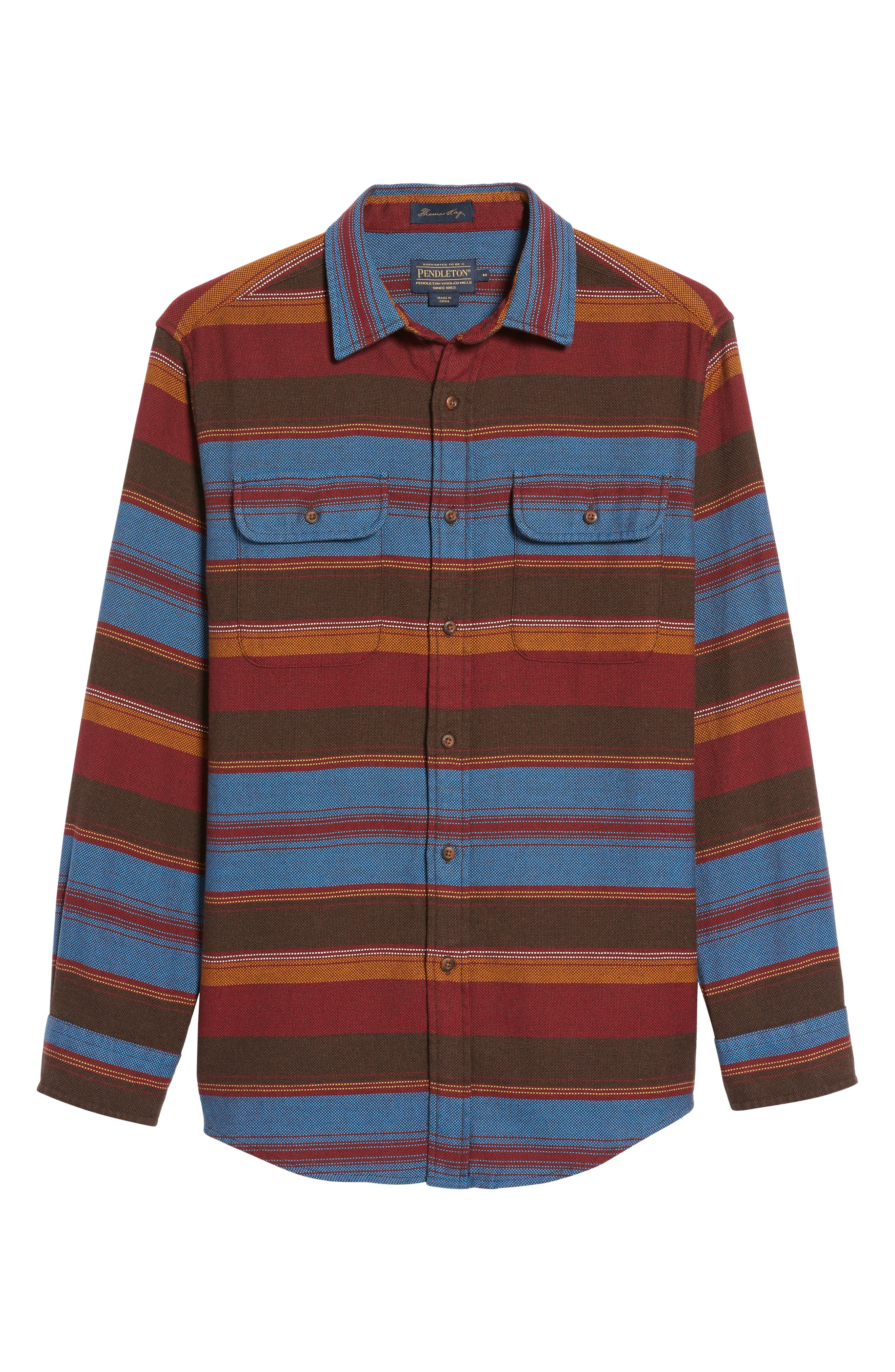 Camber Striped Sport Shirt,                             Alternate thumbnail 6, color,                             206