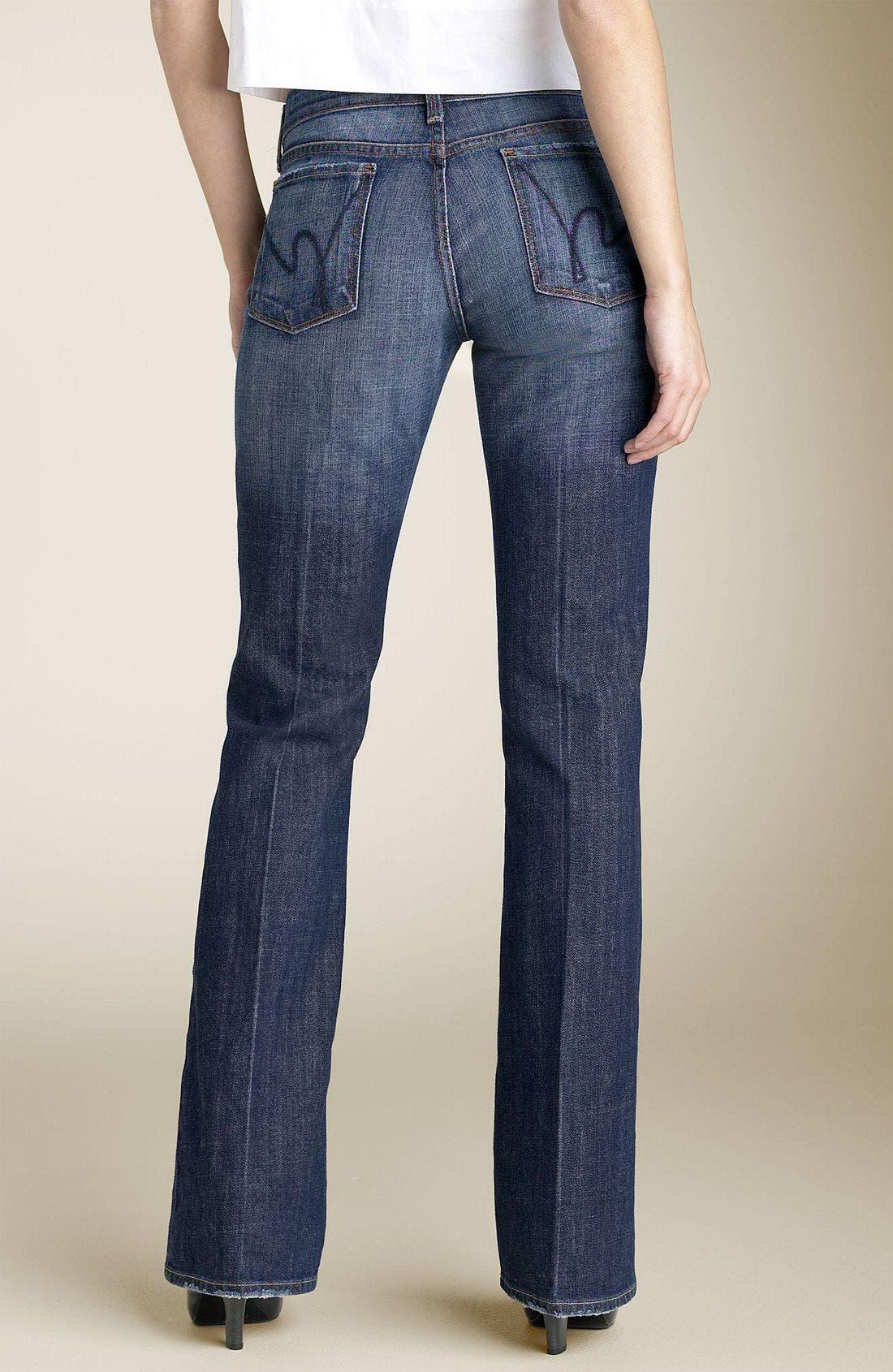 'Dita' Bootcut Stretch Jeans,                             Alternate thumbnail 2, color,                             404
