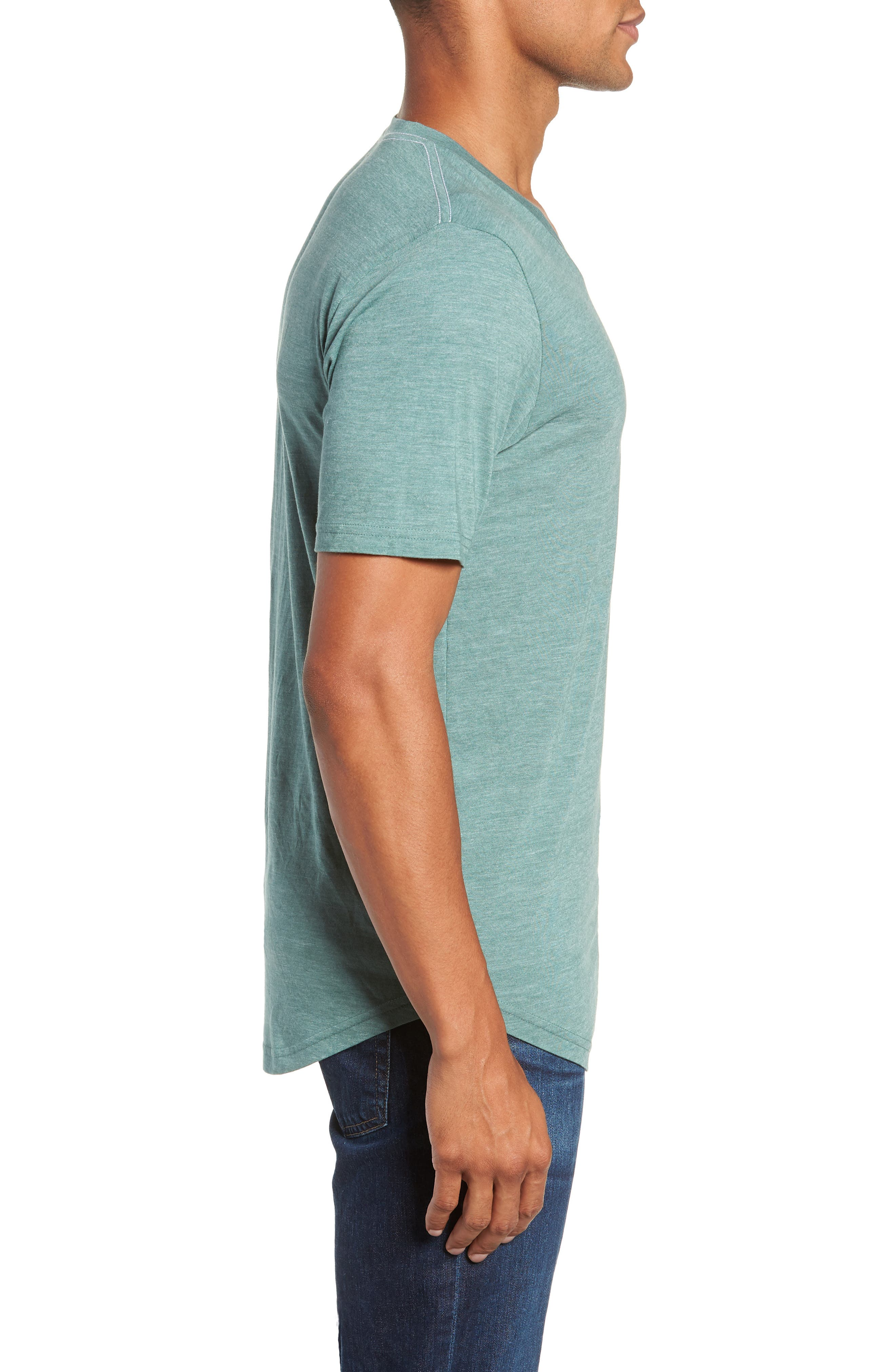 Scallop Triblend V-Neck T-Shirt,                             Alternate thumbnail 51, color,