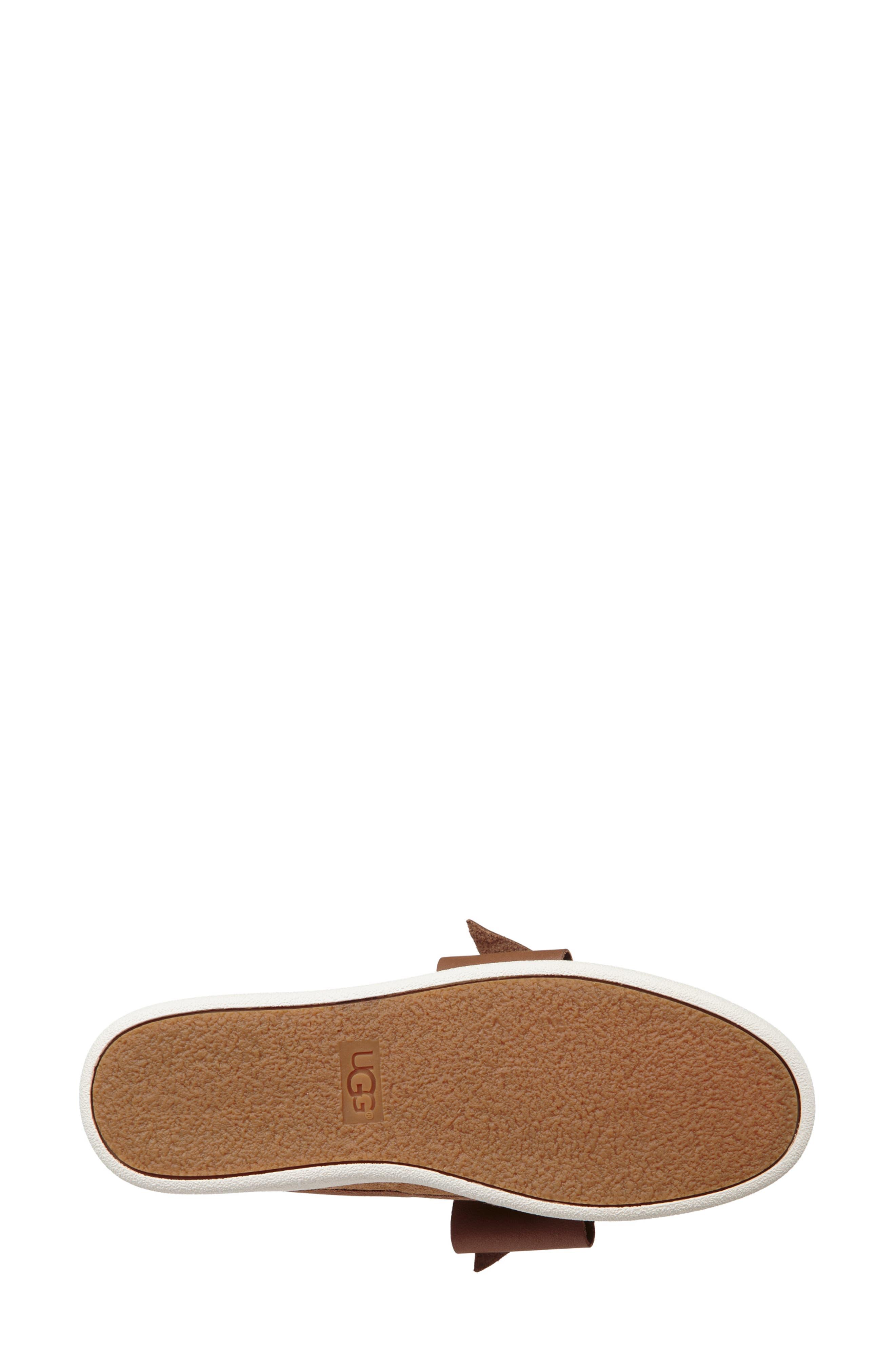 UGG<SUP>®</SUP>,                             Ida Mule Sneaker,                             Alternate thumbnail 5, color,                             CHESTNUT SUEDE
