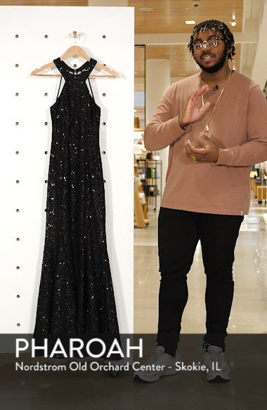 Strappy Back Sequin Lace Gown, sales video thumbnail