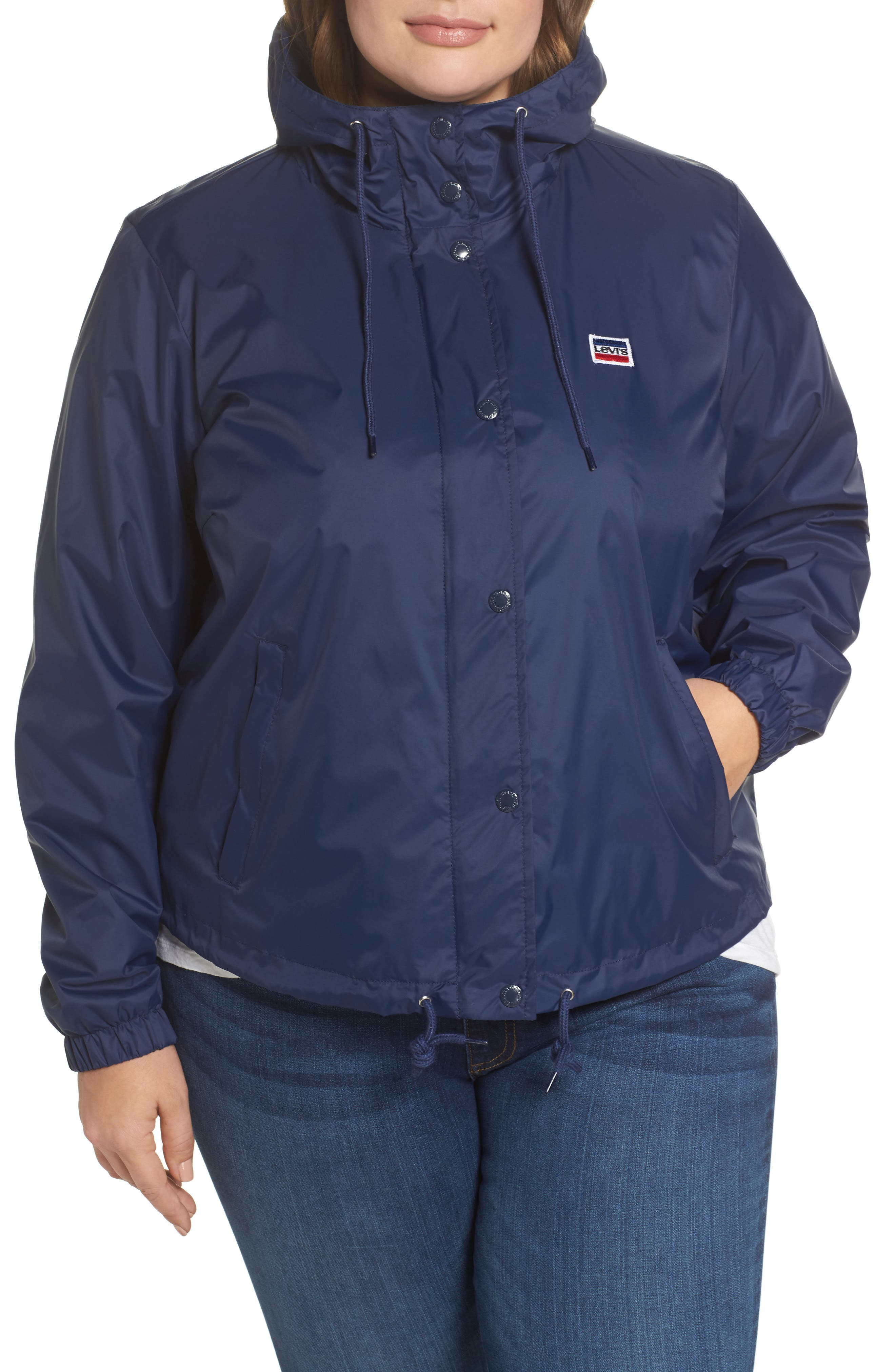 Retro Hooded Coach's Jacket,                             Alternate thumbnail 14, color,